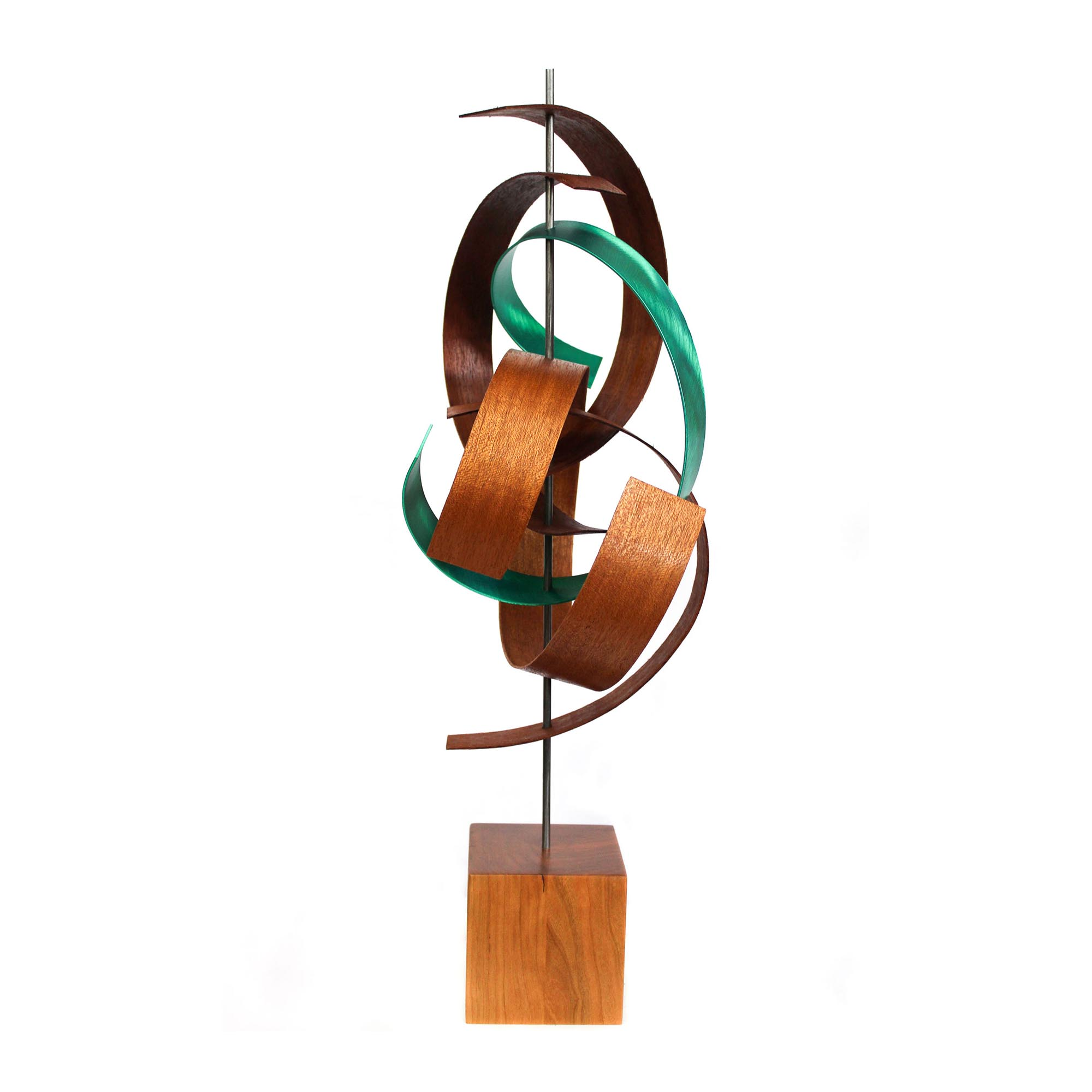 Intertwine by Jackson Wright - Modern Wood Sculpture, Mid-Century Home Decor - Image 3