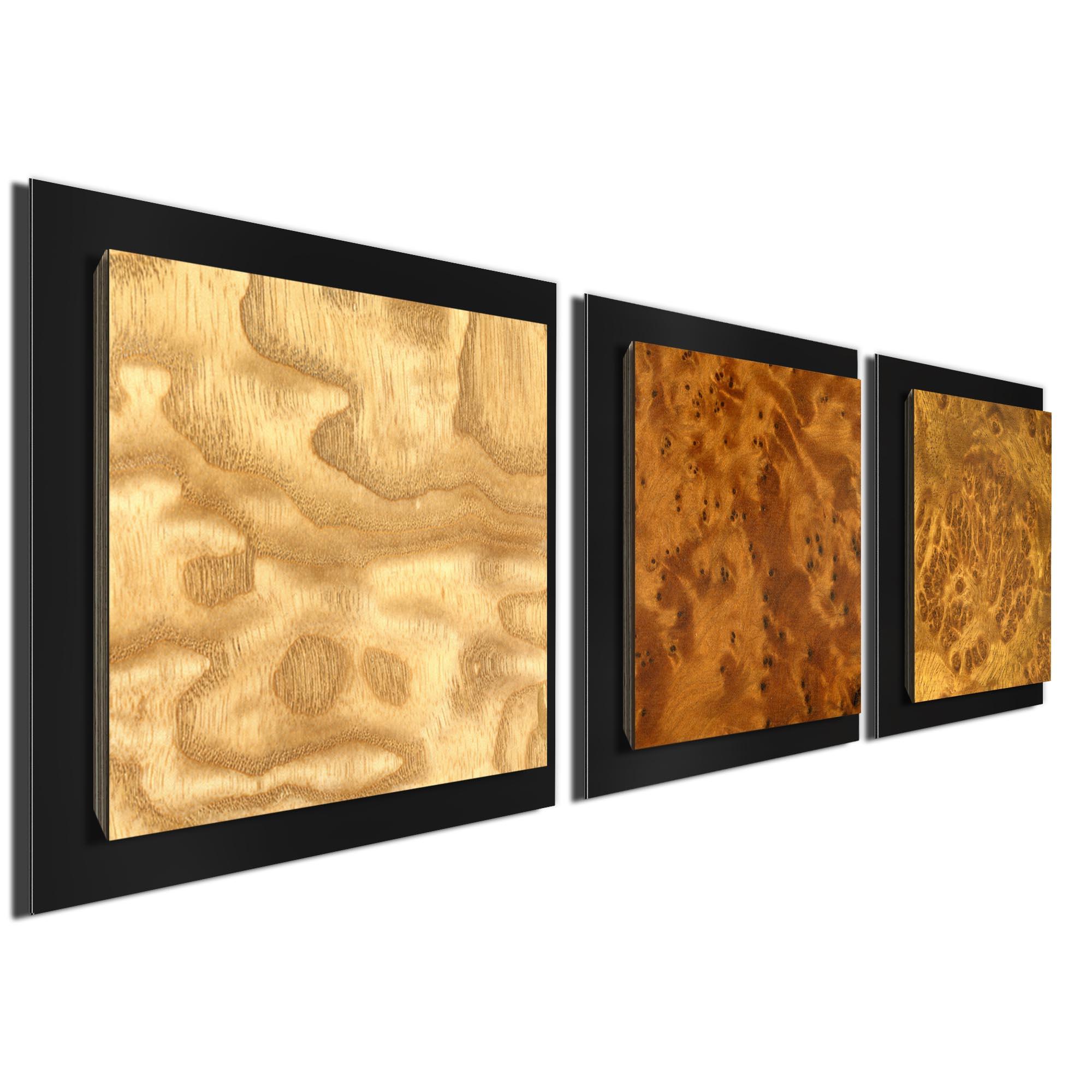 Array Burl Essence Black by Jackson Wright Rustic Modern Style Wood Wall Art - Image 2