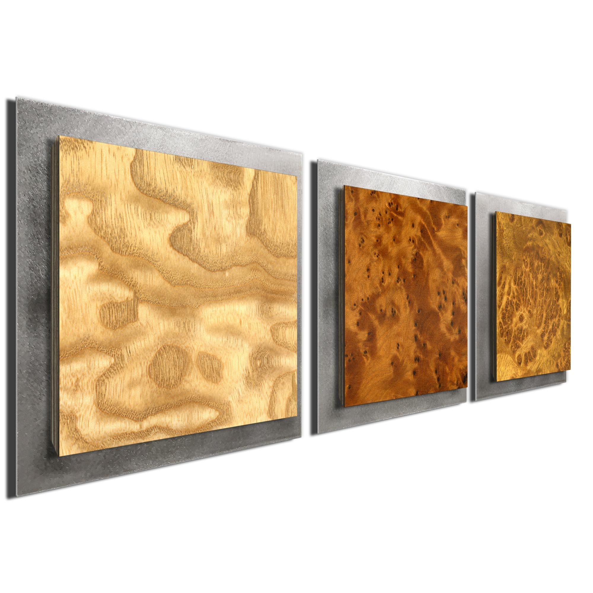 Array Burl Essence Silver by Jackson Wright Rustic Modern Style Wood Wall Art - Image 2