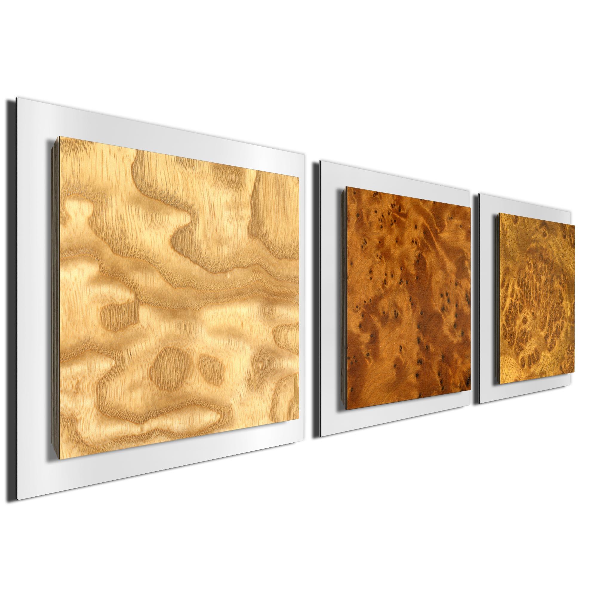 Array Burl Essence White by Jackson Wright Rustic Modern Style Wood Wall Art - Image 2