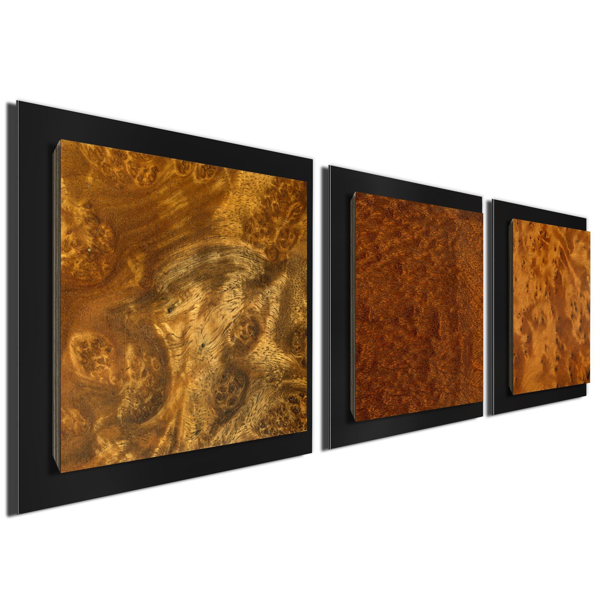 Dark Burl Essence Black by Jackson Wright Rustic Modern Style Wood Wall Art - Image 2