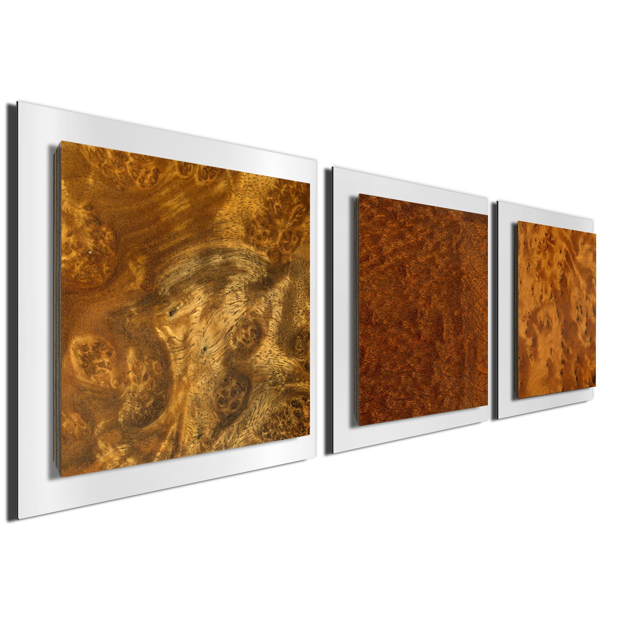Dark Burl Essence White by Jackson Wright Rustic Modern Style Wood Wall Art - Image 2
