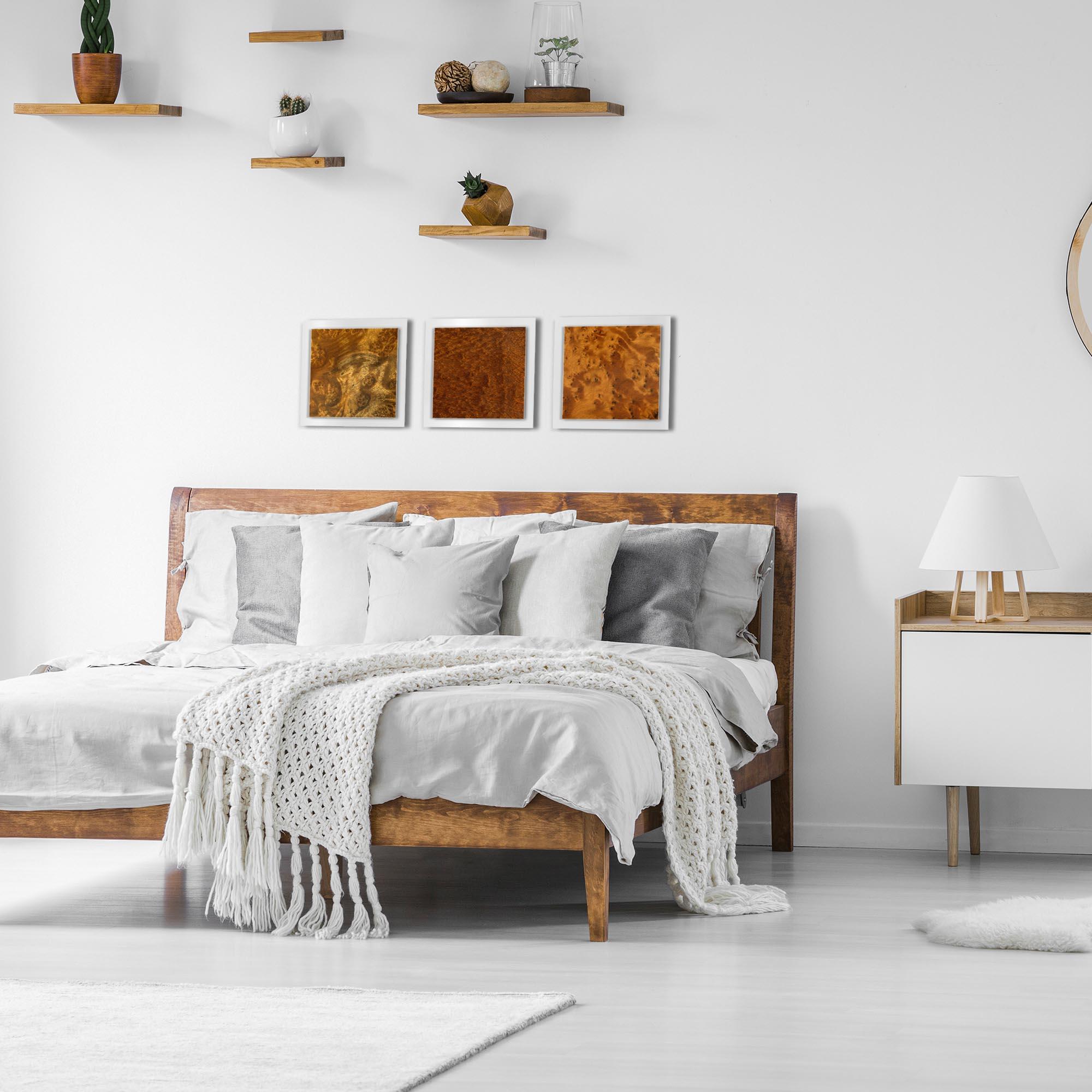 Dark Burl Essence White by Jackson Wright Rustic Modern Style Wood Wall Art - Lifestyle View