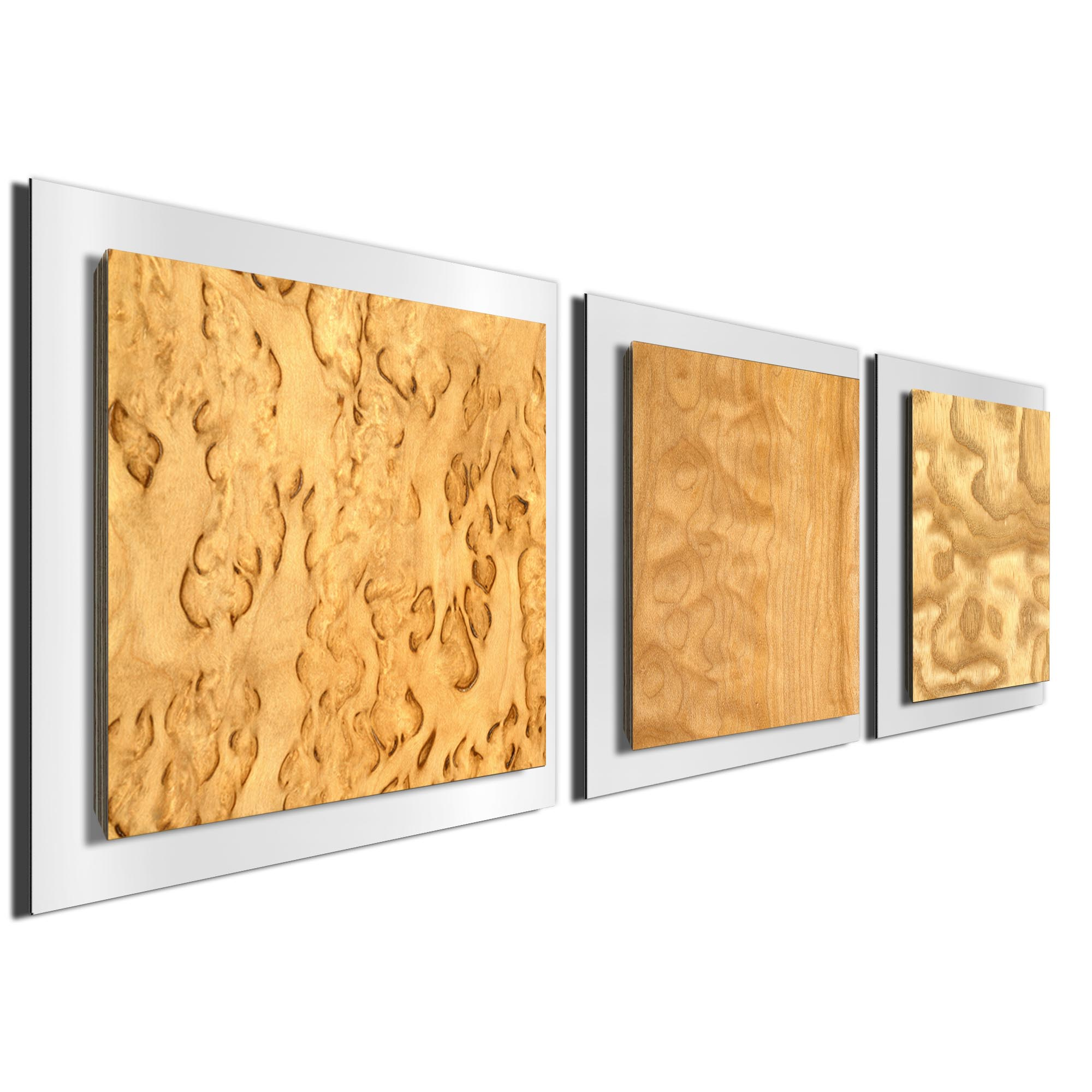 Light Burl Essence White by Jackson Wright Rustic Modern Style Wood Wall Art - Image 2