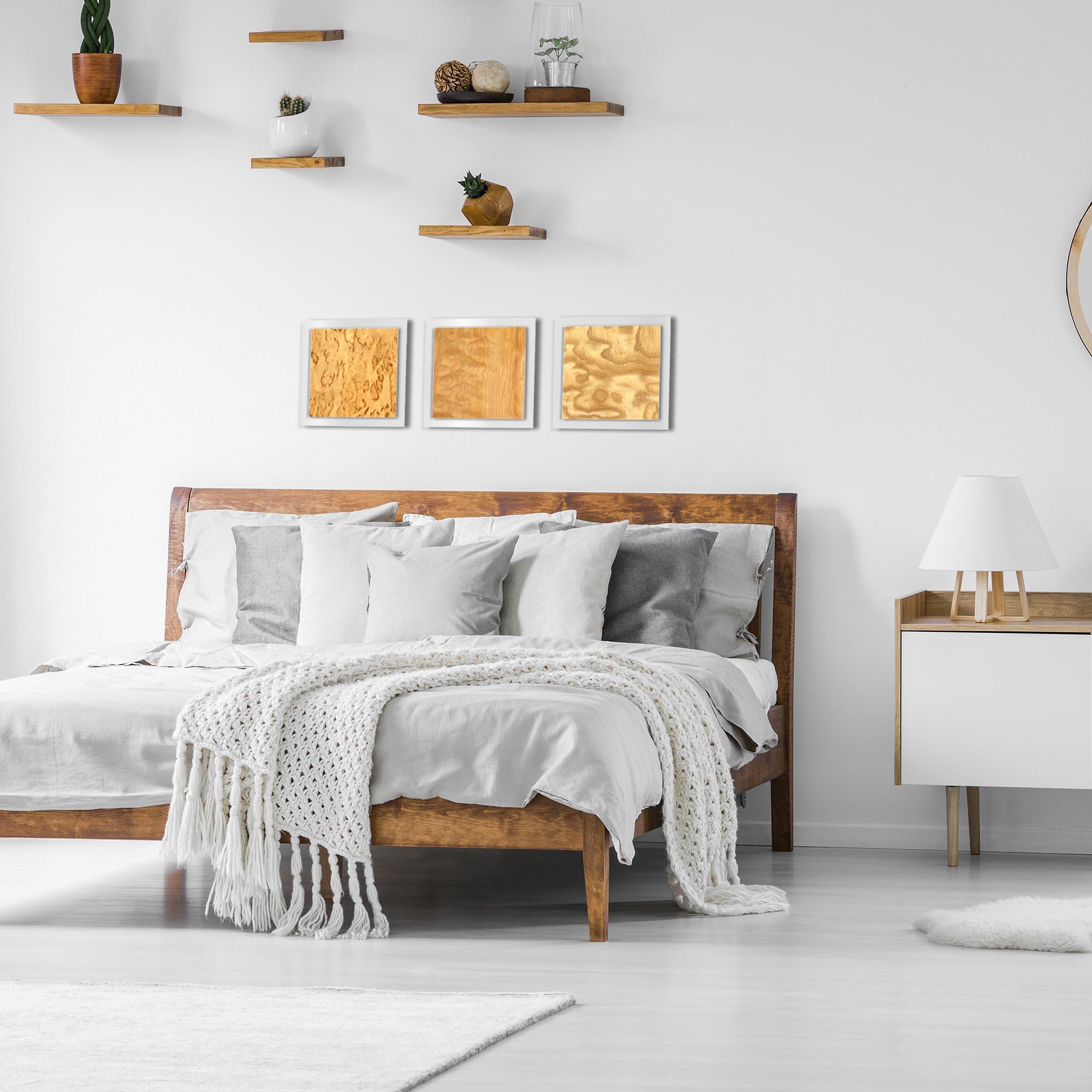 Light Burl Essence White by Jackson Wright Rustic Modern Style Wood Wall Art - Lifestyle View