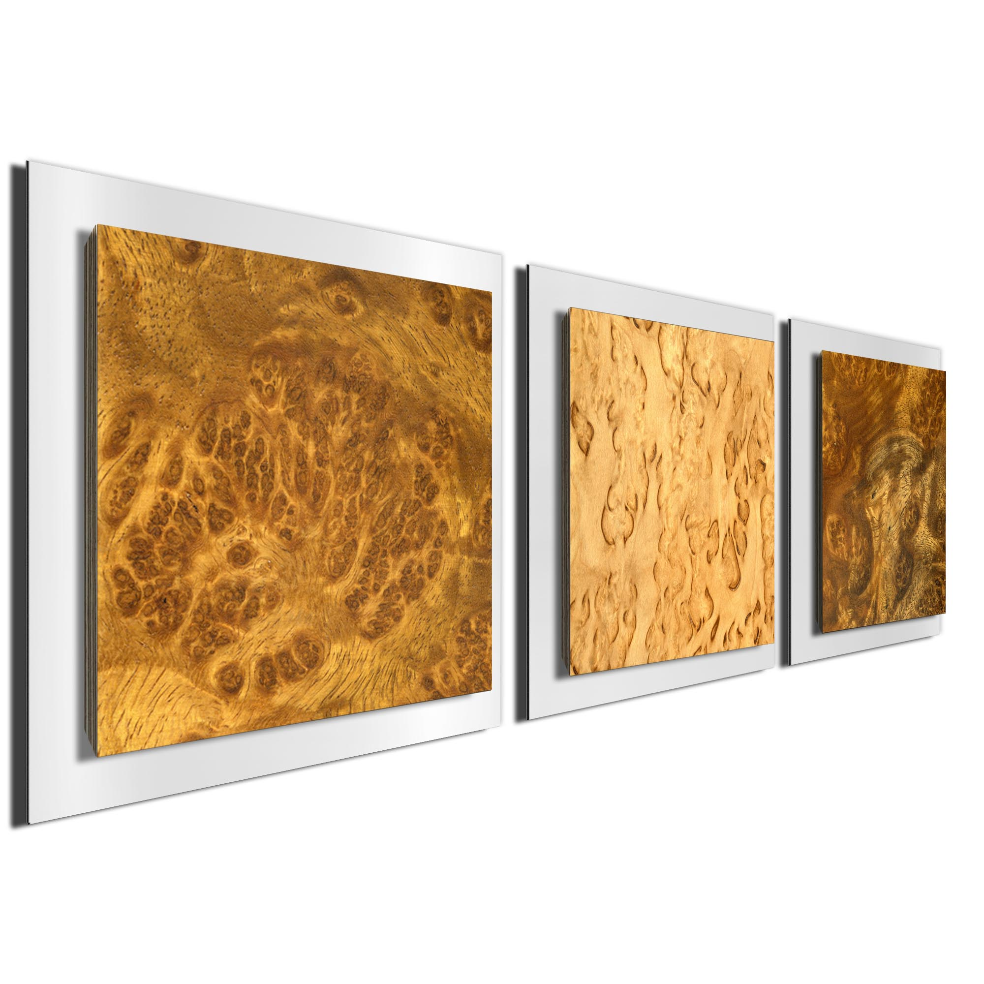 Flame Burl Essence White by Jackson Wright Rustic Modern Style Wood Wall Art - Image 2