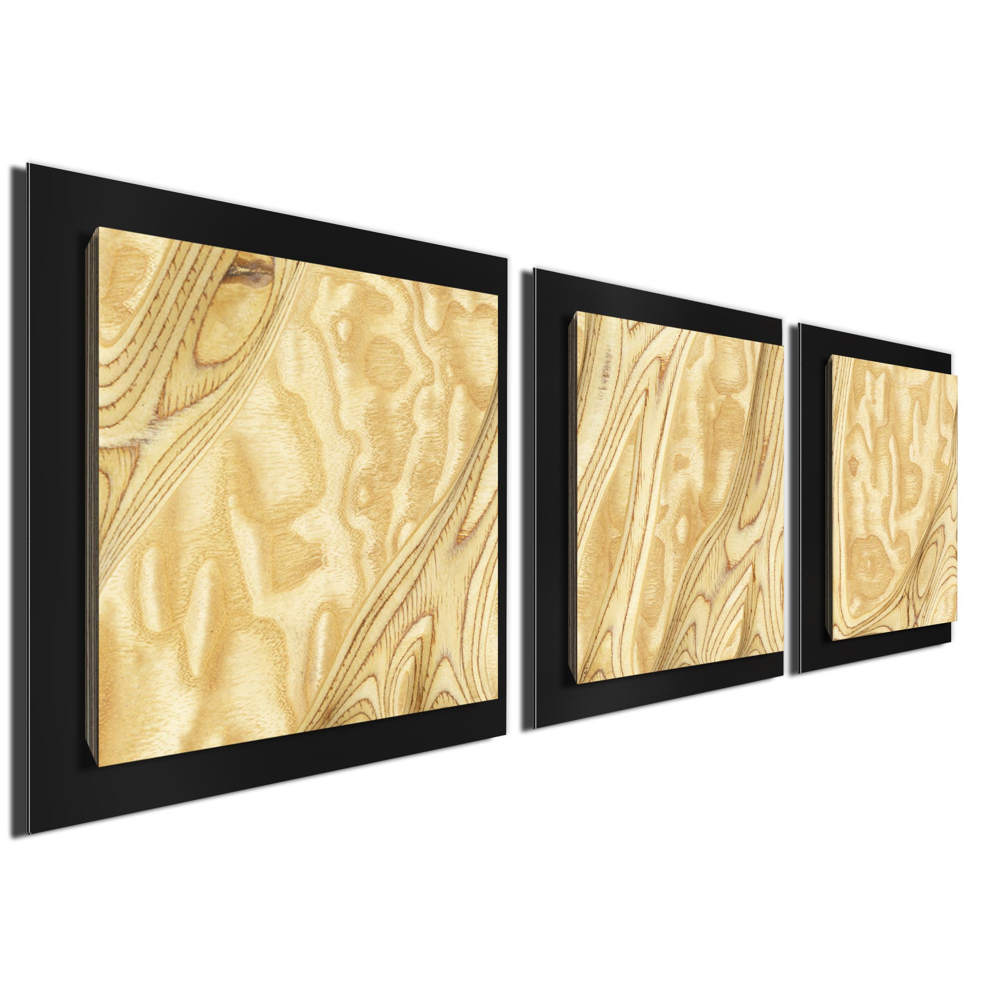 Natural Burl Essence Black by Jackson Wright Rustic Modern Style Wood Wall Art - Image 2