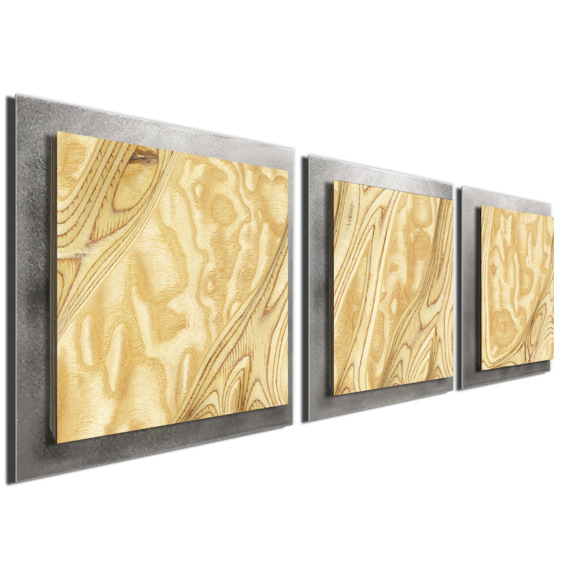 Natural Burl Essence Silver by Jackson Wright Rustic Modern Style Wood Wall Art - Image 2