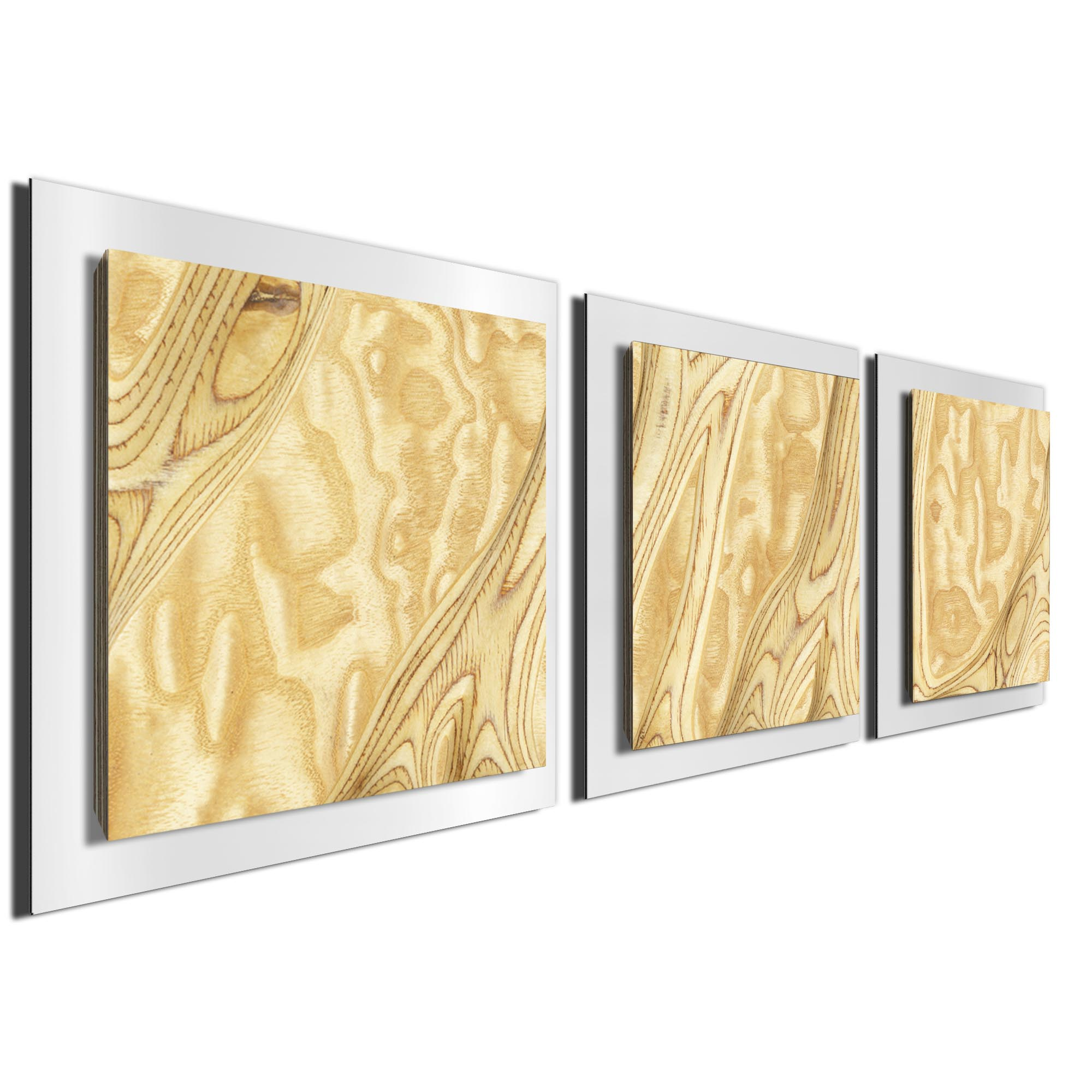 Natural Burl Essence White by Jackson Wright Rustic Modern Style Wood Wall Art - Image 2