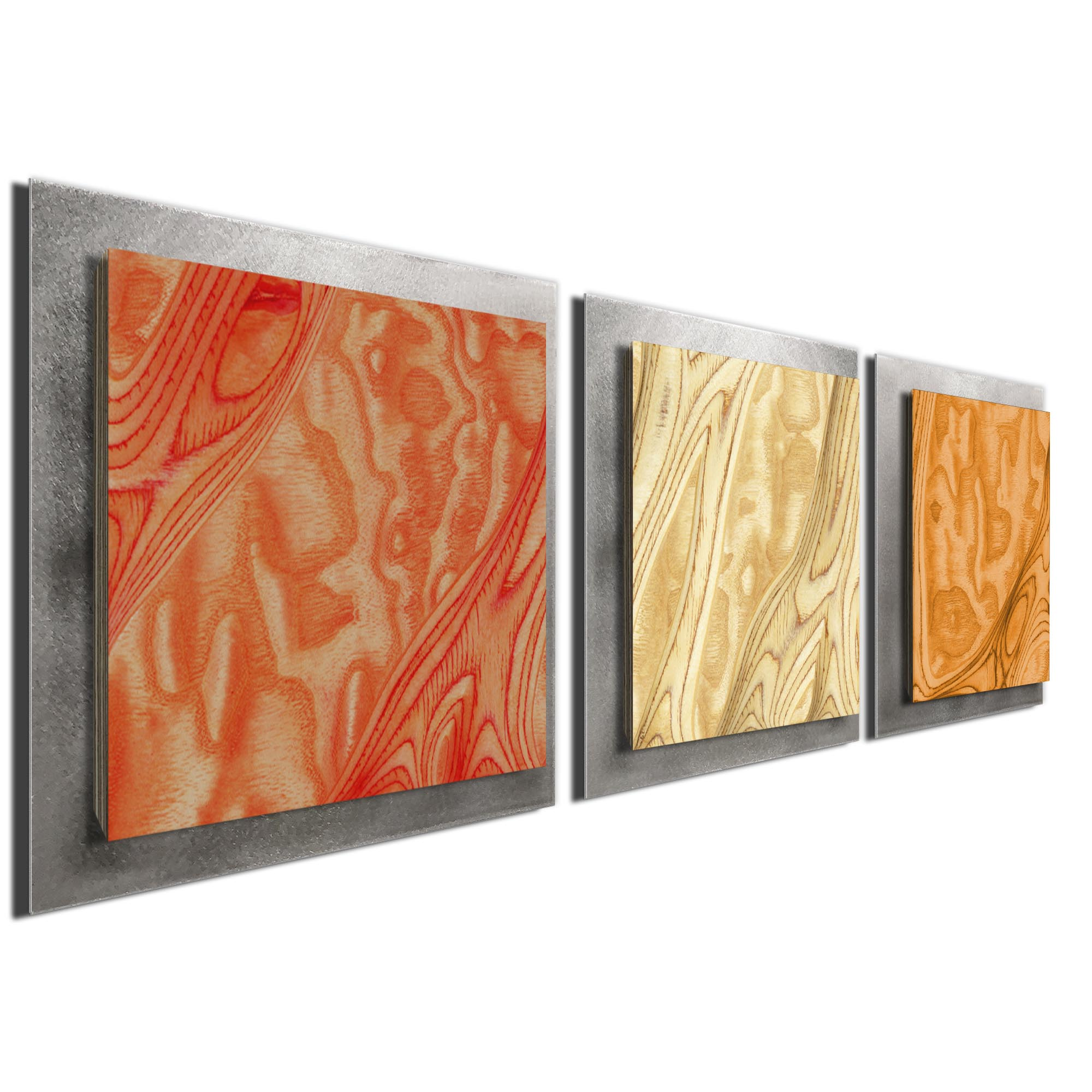Autumn Burl Essence Silver by Jackson Wright Rustic Modern Style Wood Wall Art - Image 2