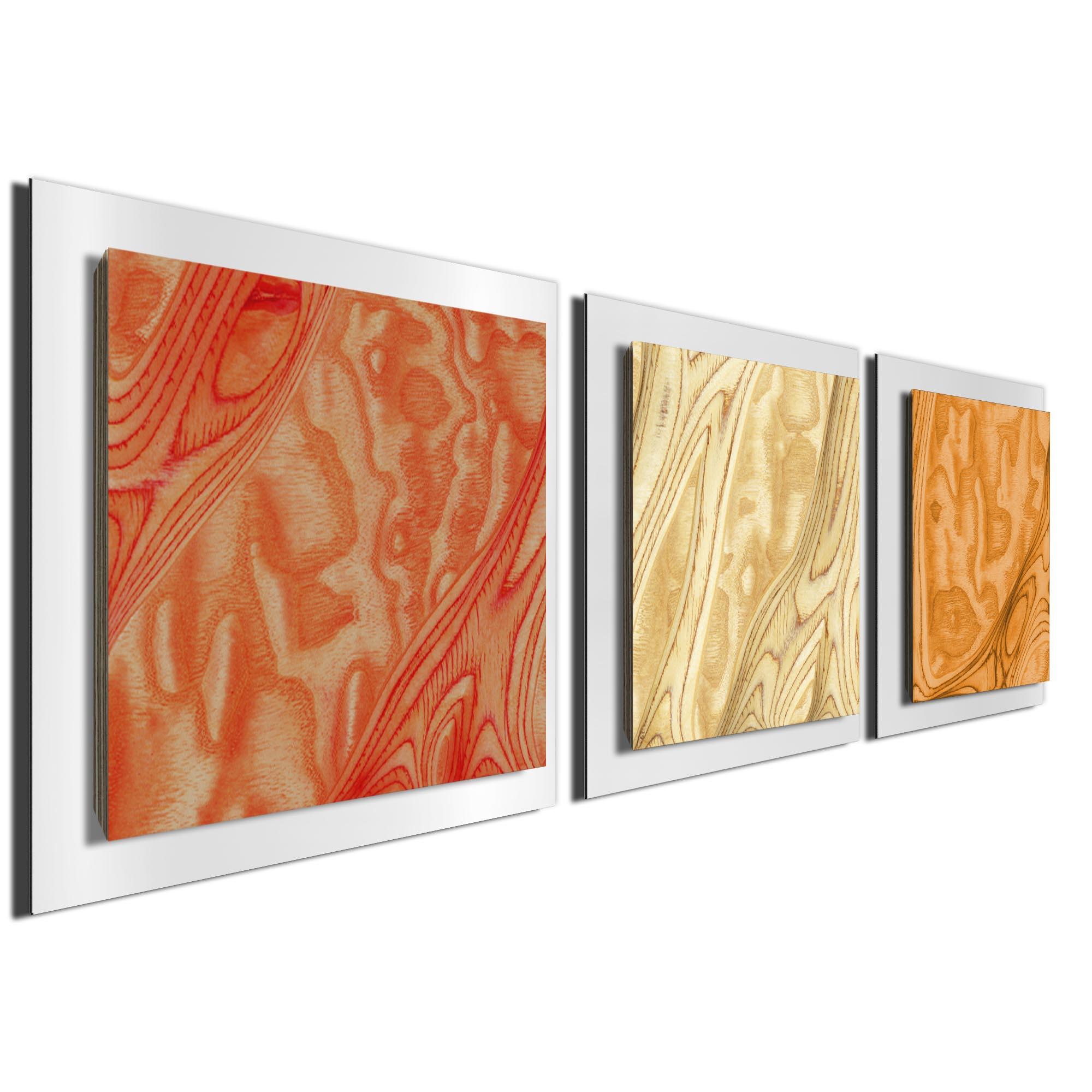 Autumn Burl Essence White by Jackson Wright Rustic Modern Style Wood Wall Art - Image 2