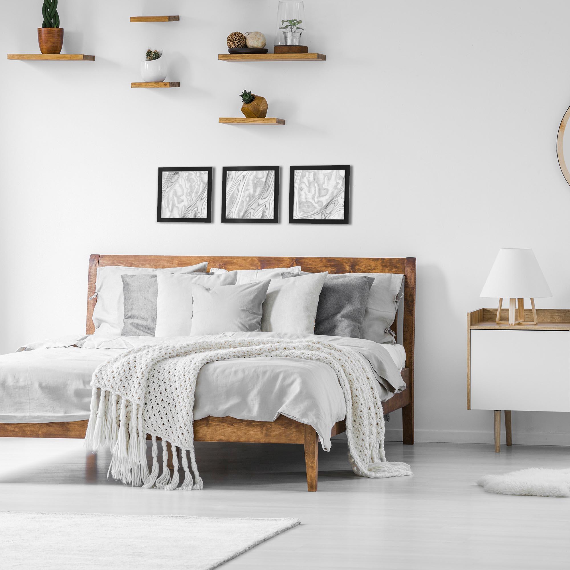 Whitewash Burl Essence Black by Jackson Wright Rustic Modern Style Wood Wall Art - Lifestyle View