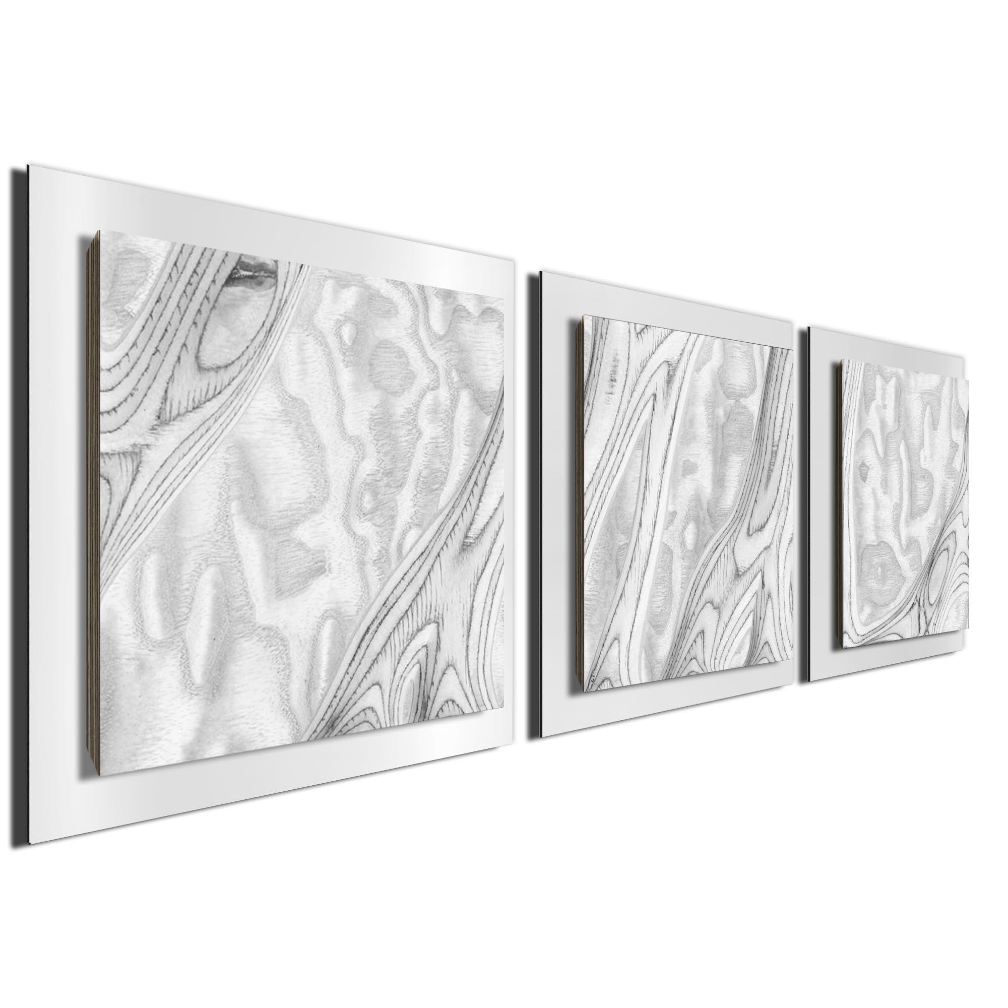 Whitewash Burl Essence White by Jackson Wright Rustic Modern Style Wood Wall Art - Image 2