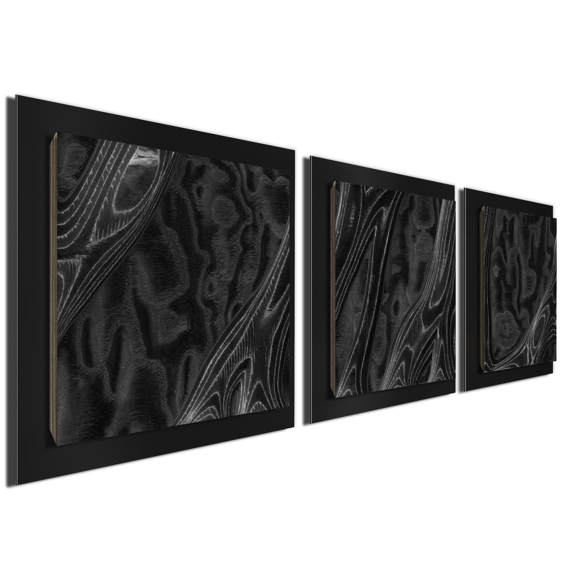Ebony Burl Essence Black by Jackson Wright Rustic Modern Style Wood Wall Art - Image 2