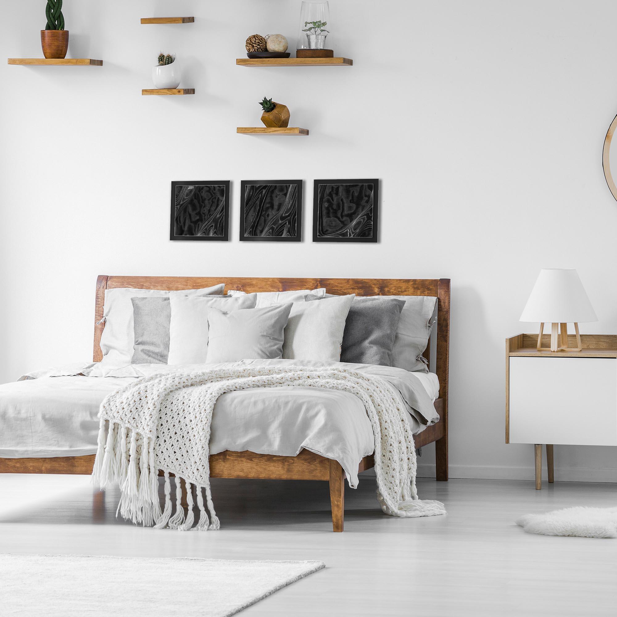 Ebony Burl Essence Black by Jackson Wright Rustic Modern Style Wood Wall Art - Lifestyle View