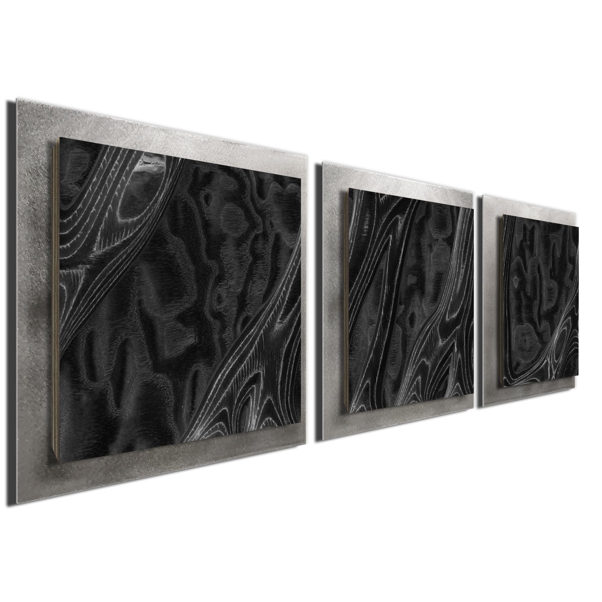 Ebony Burl Essence Silver by Jackson Wright Rustic Modern Style Wood Wall Art - Image 2
