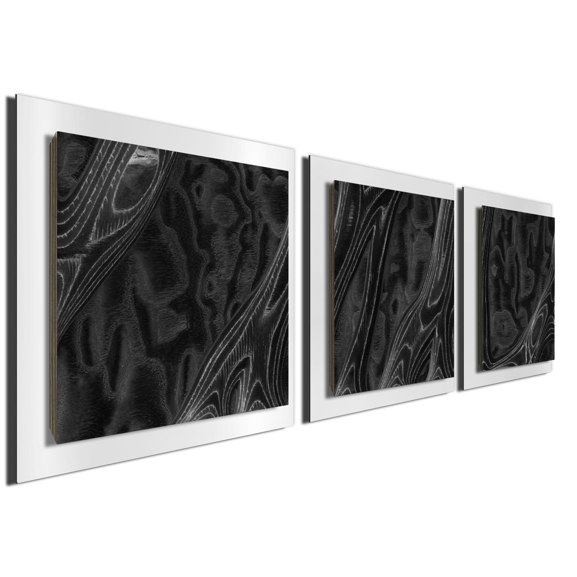 Ebony Burl Essence White by Jackson Wright Rustic Modern Style Wood Wall Art - Image 2