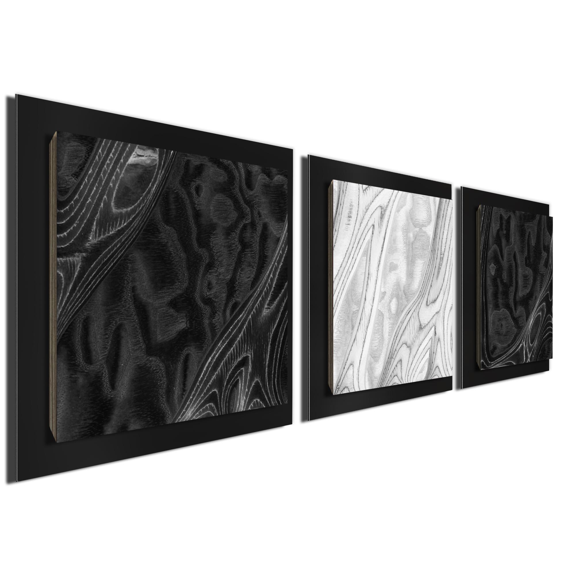 BWB Burl Essence Black by Jackson Wright Rustic Modern Style Wood Wall Art - Image 2