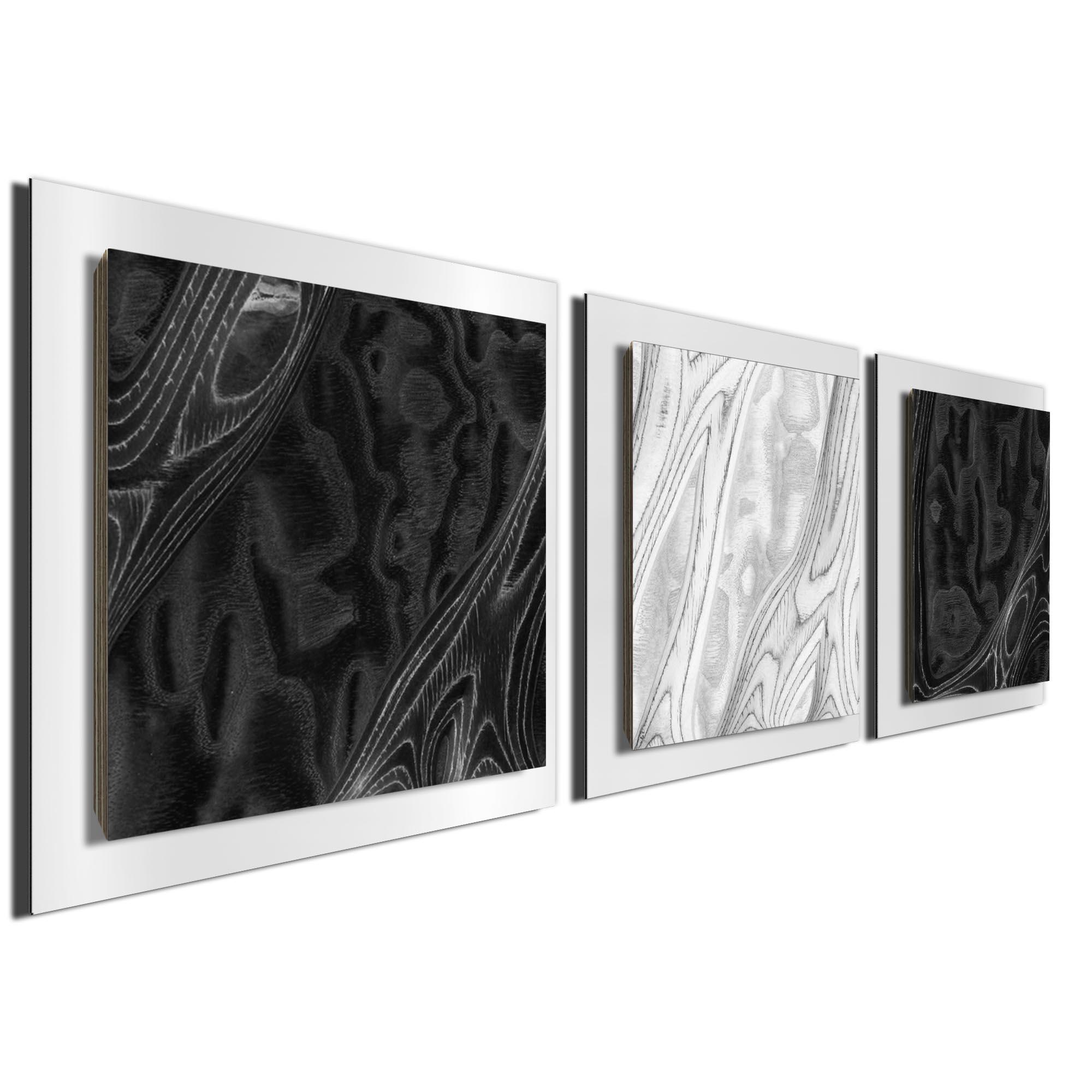 BWB Burl Essence White by Jackson Wright Rustic Modern Style Wood Wall Art - Image 2