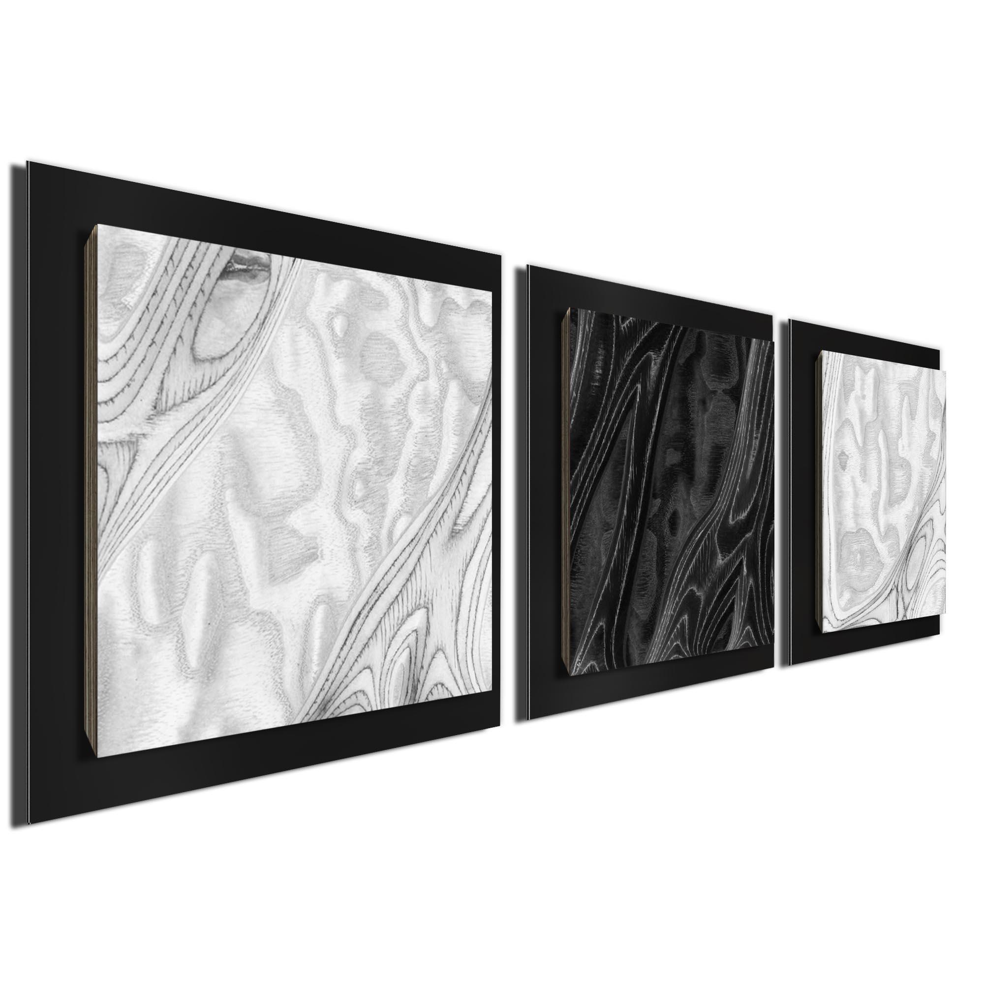 WBW Burl Essence Black by Jackson Wright Rustic Modern Style Wood Wall Art - Image 2