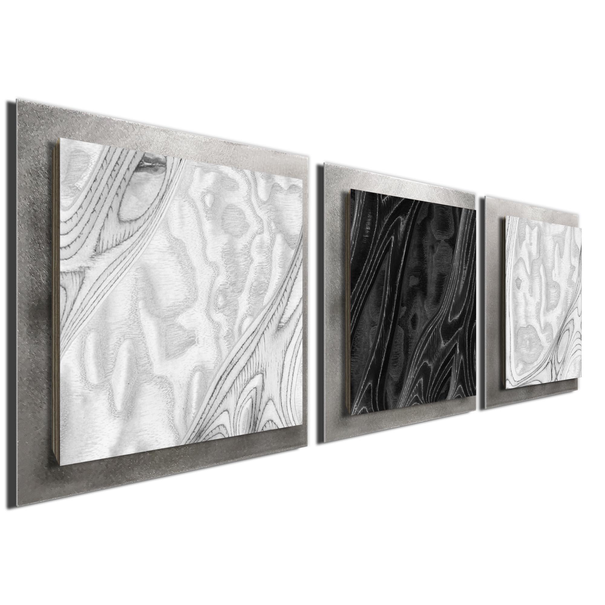 WBW Burl Essence Silver by Jackson Wright Rustic Modern Style Wood Wall Art - Image 2