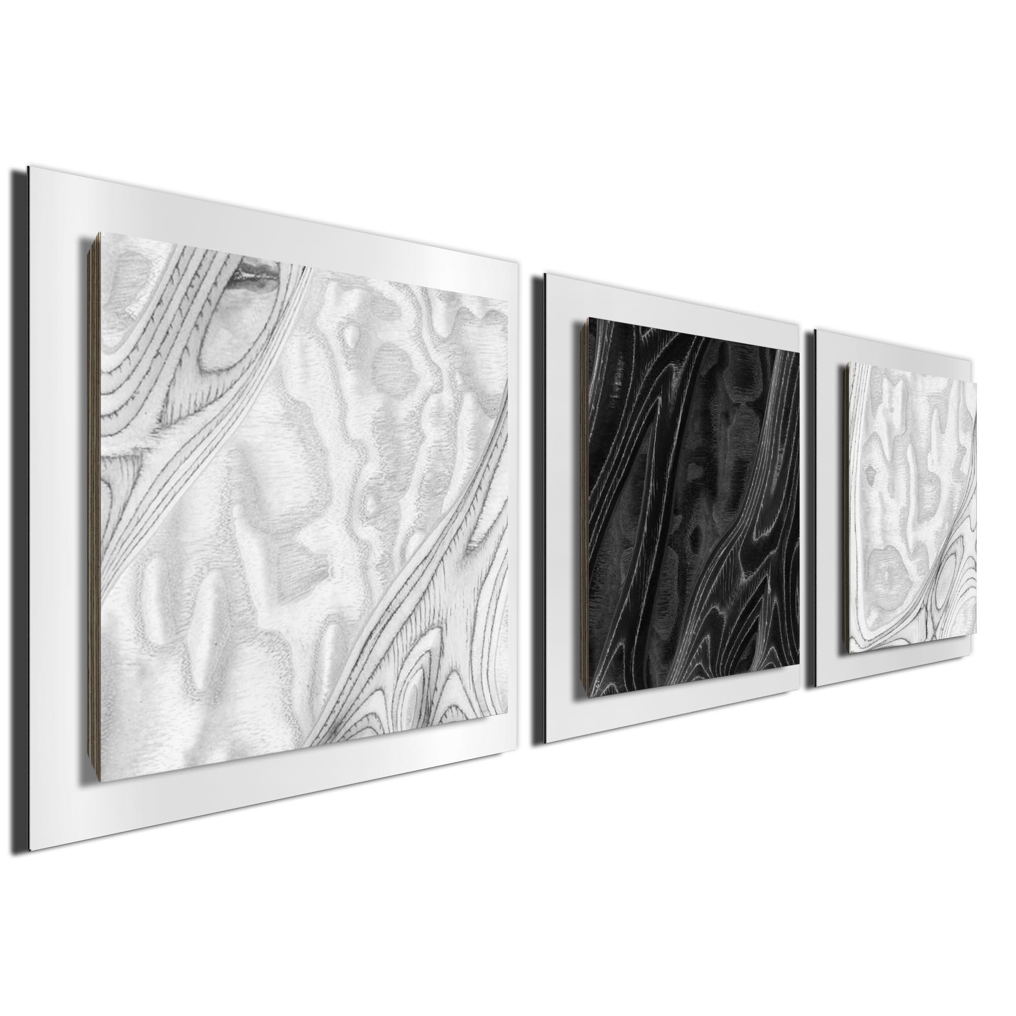 WBW Burl Essence White by Jackson Wright Rustic Modern Style Wood Wall Art - Image 2