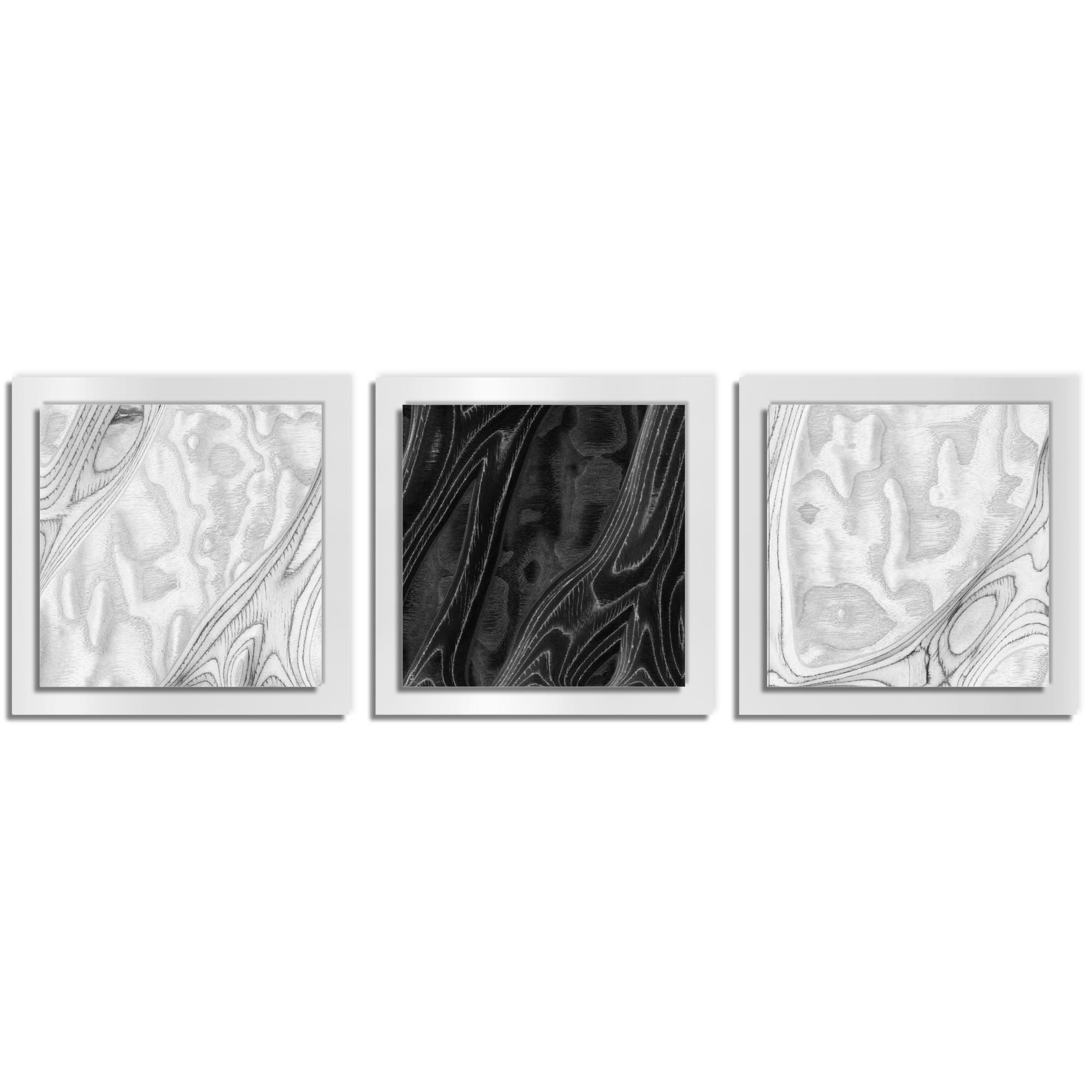 Jackson Wright 'WBW Burl Essence White' 38in x 12in Contemporary Style Wood Wall Art