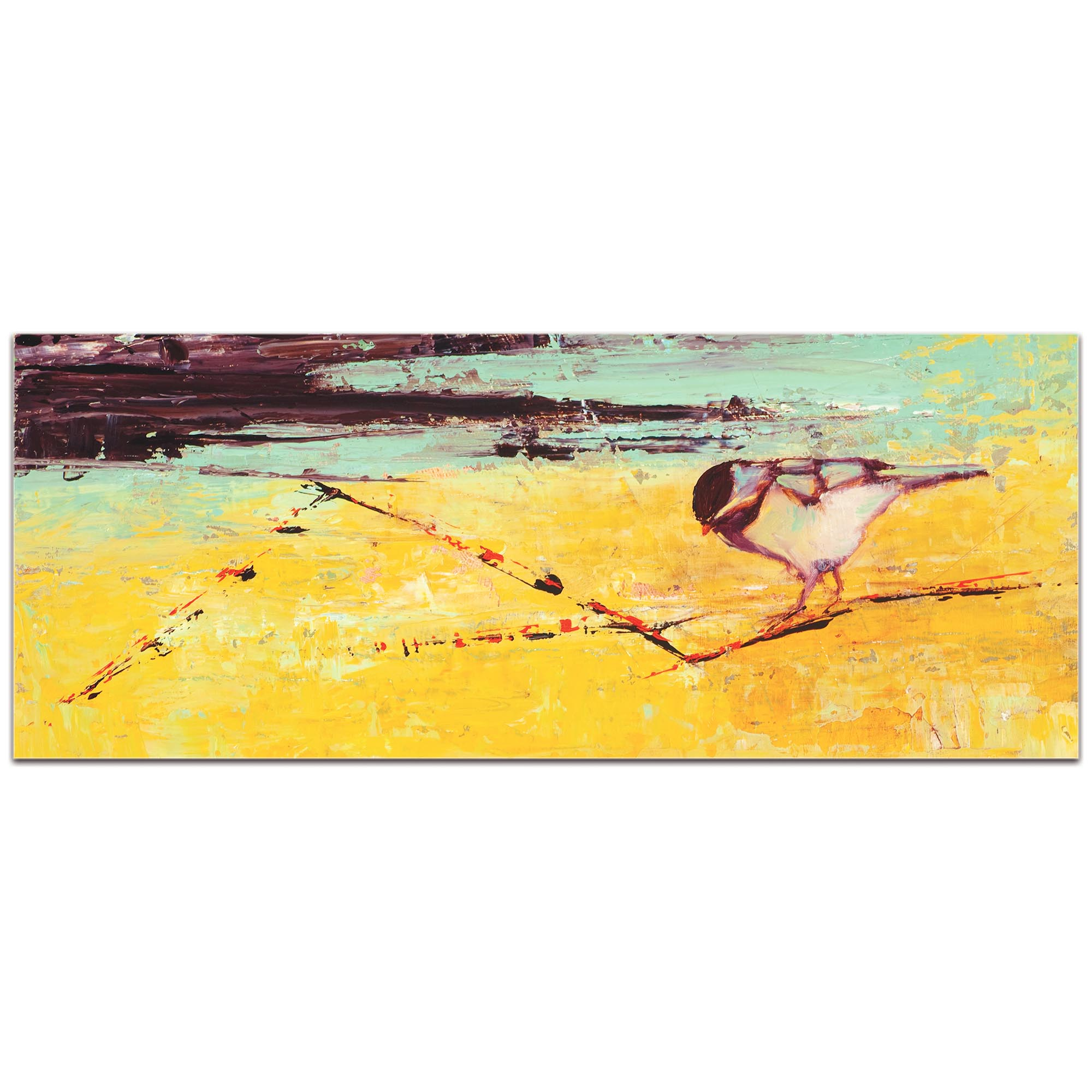 Contemporary Wall Art 'Bird on a Horizon v2' - Urban Birds Decor on Metal or Plexiglass - Image 2