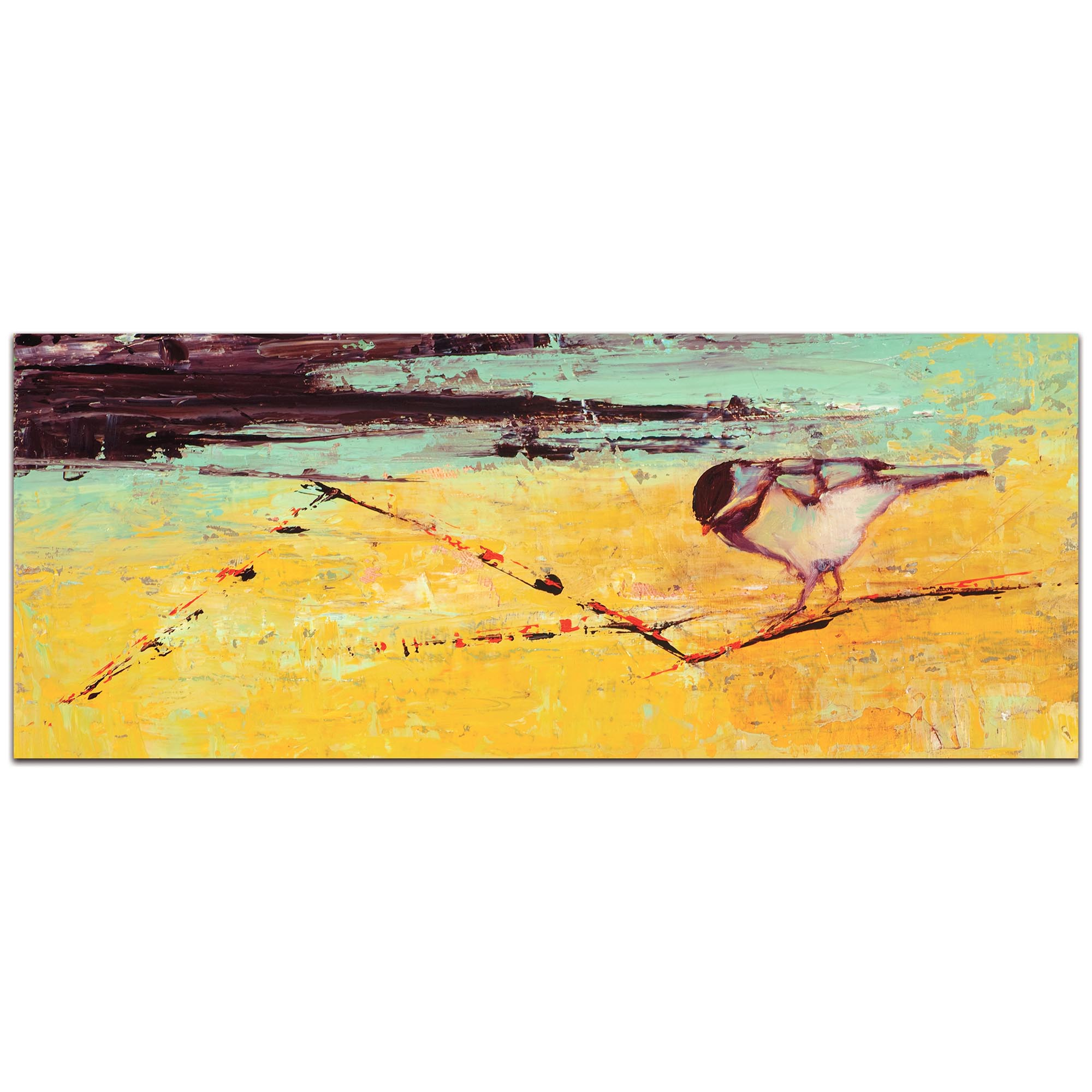 Contemporary Wall Art 'Bird on a Horizon v2' - Urban Birds Decor on Metal or Plexiglass