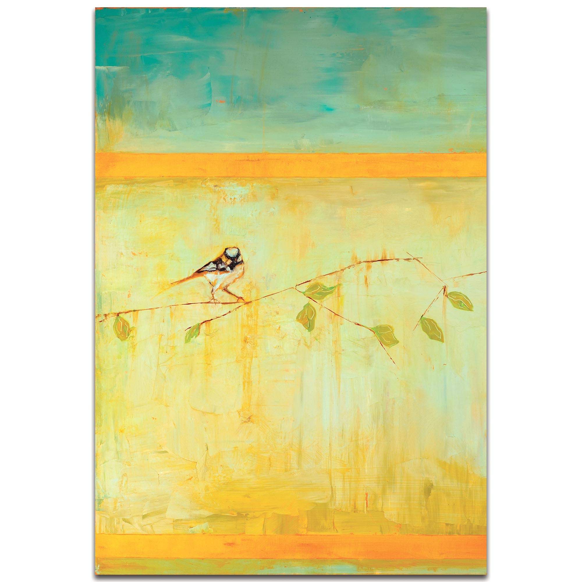Contemporary Wall Art 'Bird with Horizontal Stripes v2' - Urban Birds Decor on Metal or Plexiglass