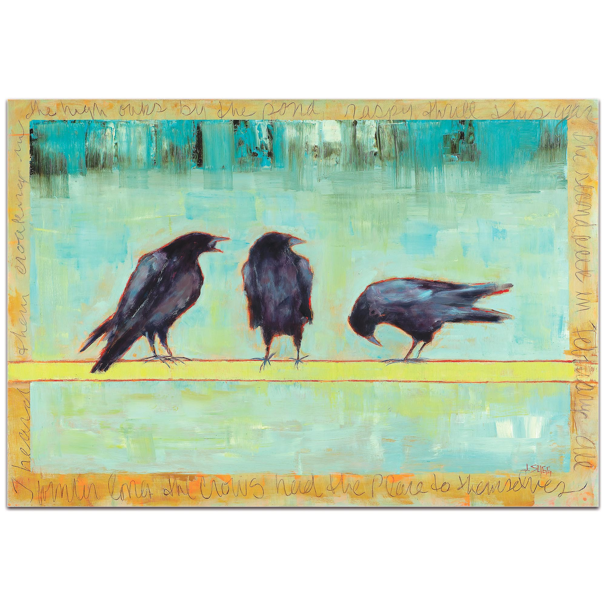 Contemporary Wall Art 'Crow Bar 1' - Urban Birds Decor on Metal or Plexiglass - Image 2