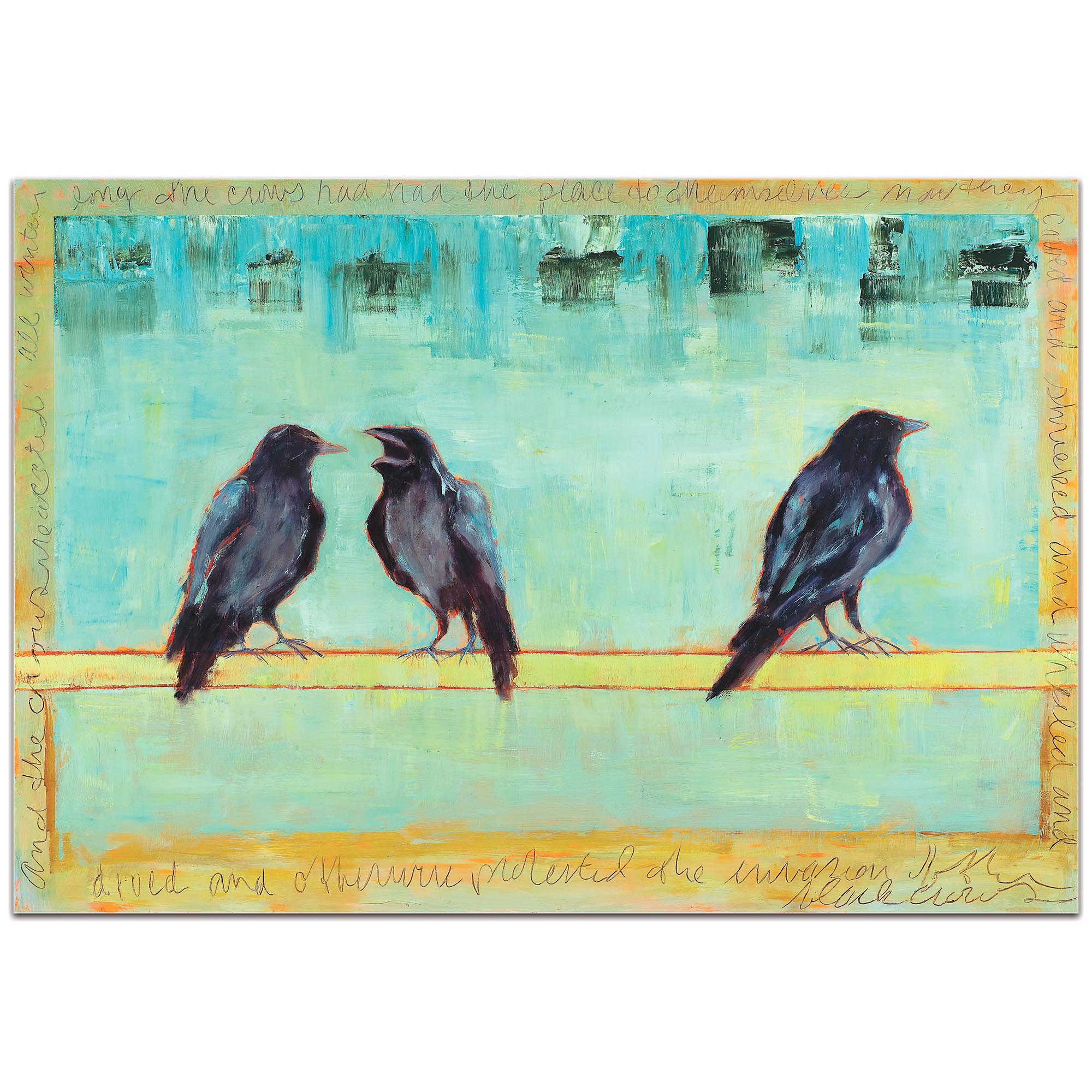Contemporary Wall Art 'Crow Bar 2' - Urban Birds Decor on Metal or Plexiglass - Image 2