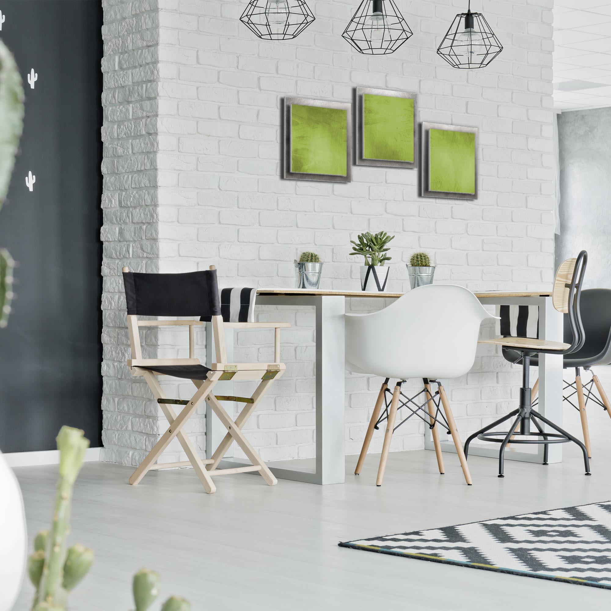 Green Essence - Layered Modern Metal Wall Art - Lifestyle Image