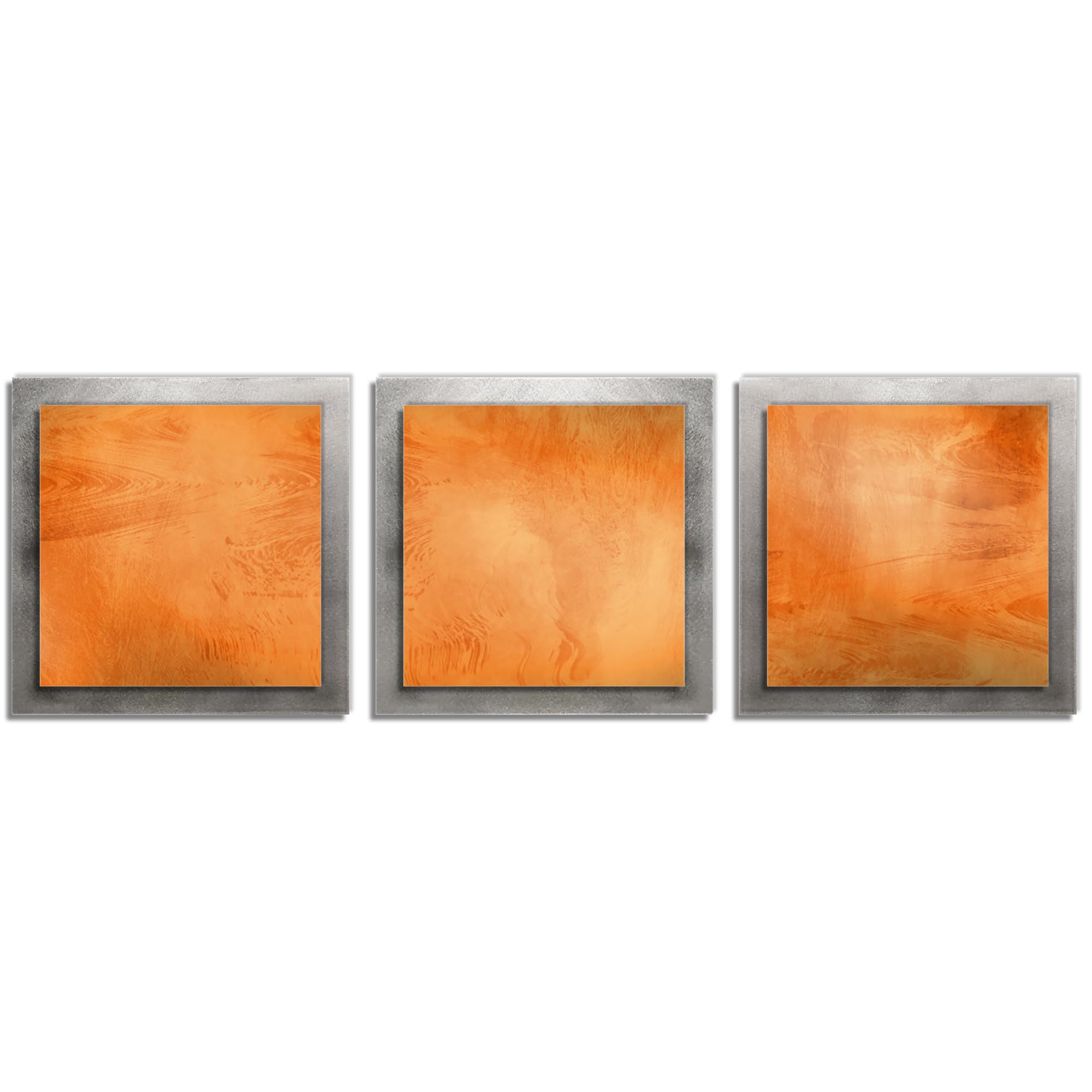 Orange Essence - Layered Modern Metal Wall Art