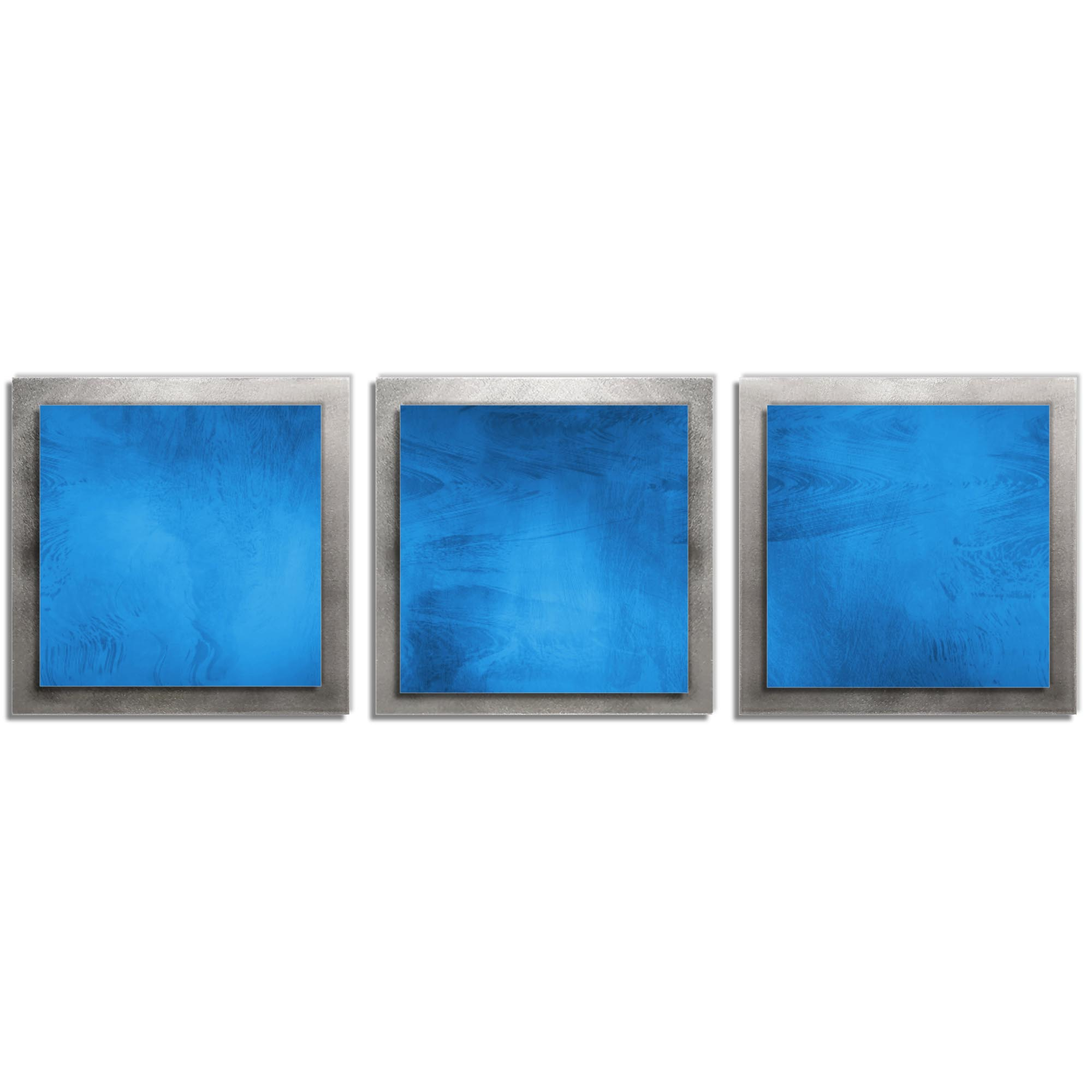 Blue Essence - Layered Modern Metal Wall Art