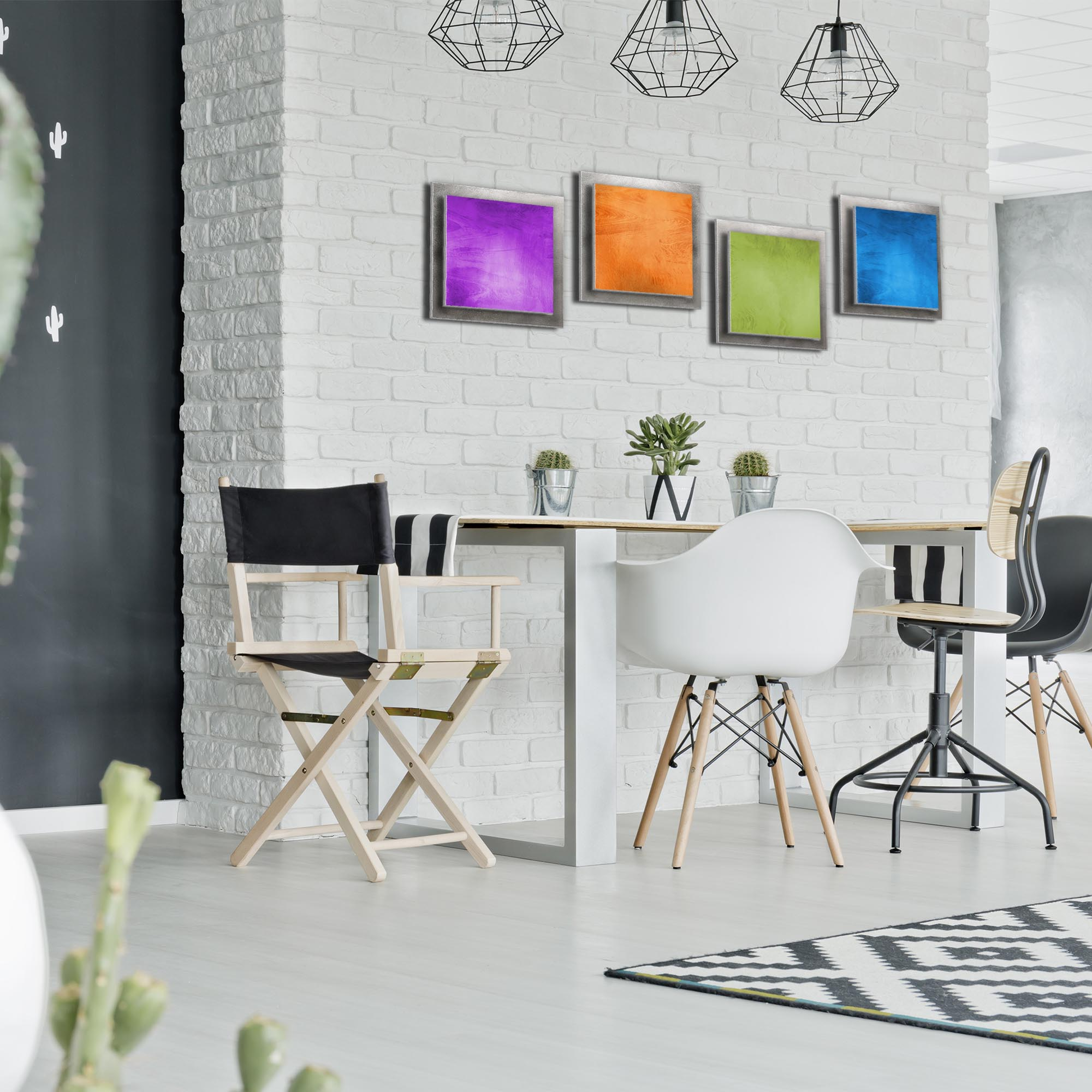 Seasonal Essence - Rainbow Color Metal Wall Art - Lifestyle Image