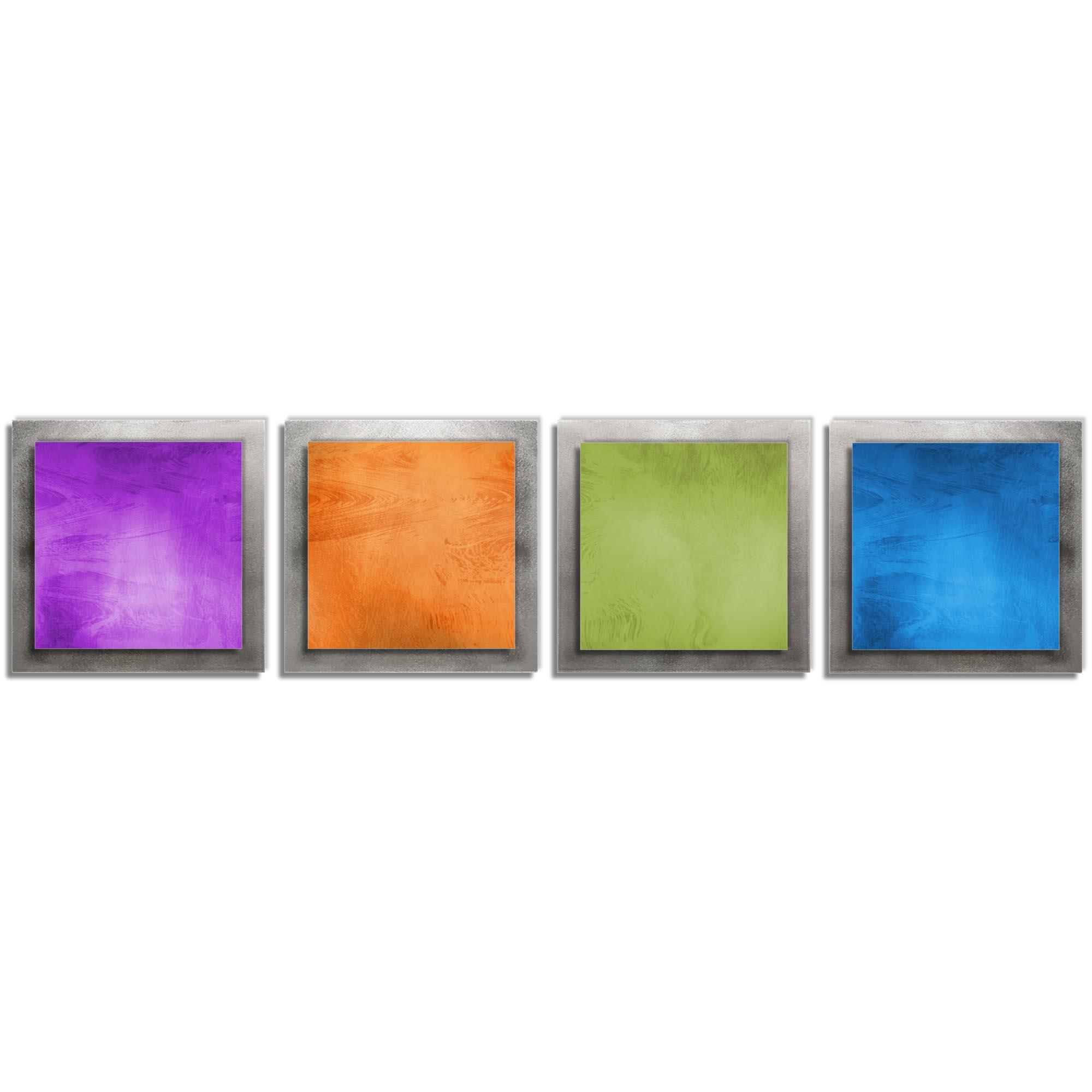Seasonal Essence - Rainbow Color Metal Wall Art