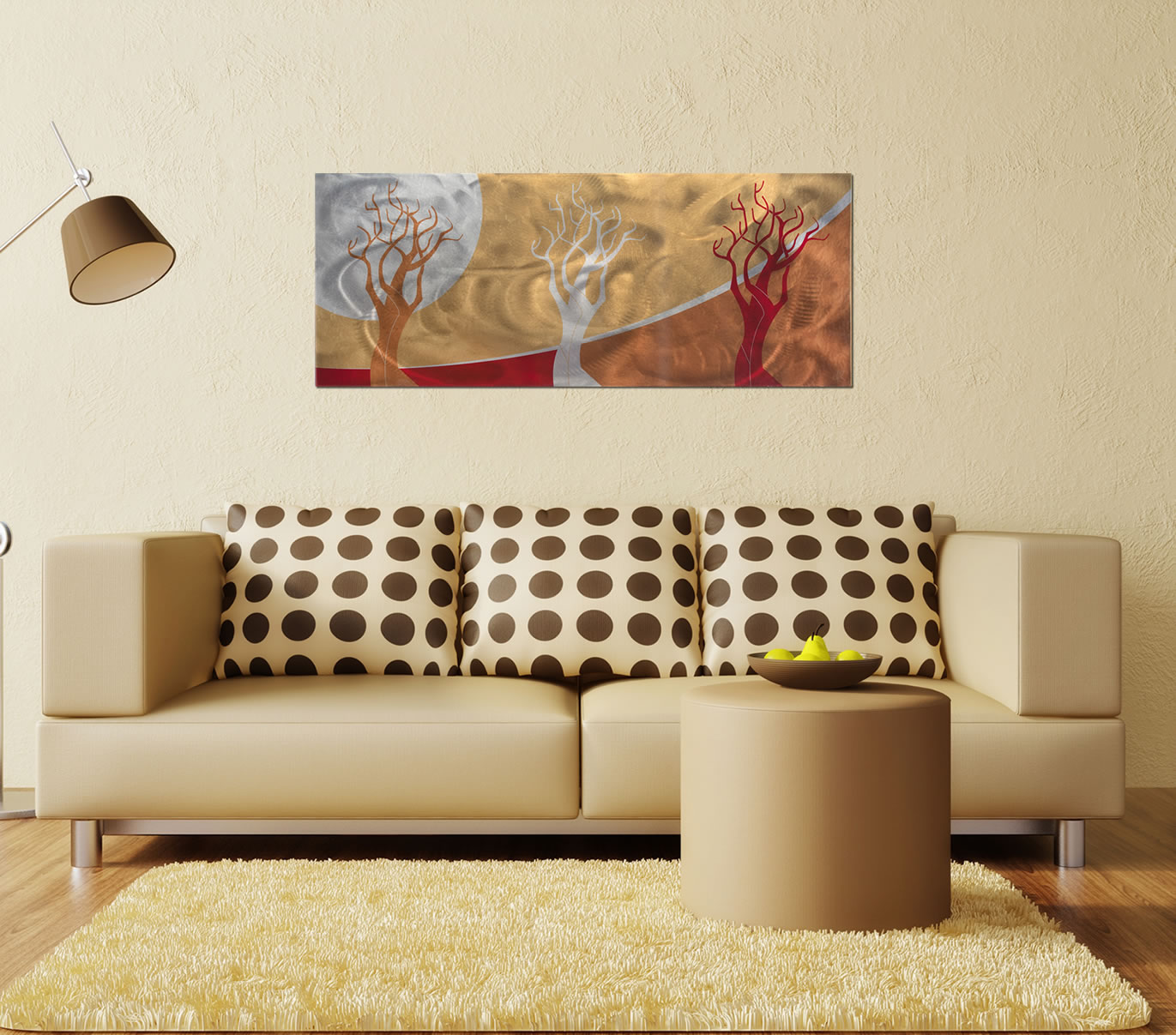 Golden Seasons - Sunset Landscape Abstract Art - Lifestyle Image