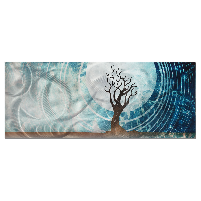 Twilight - Moonlight Tree Abstract Wall Art
