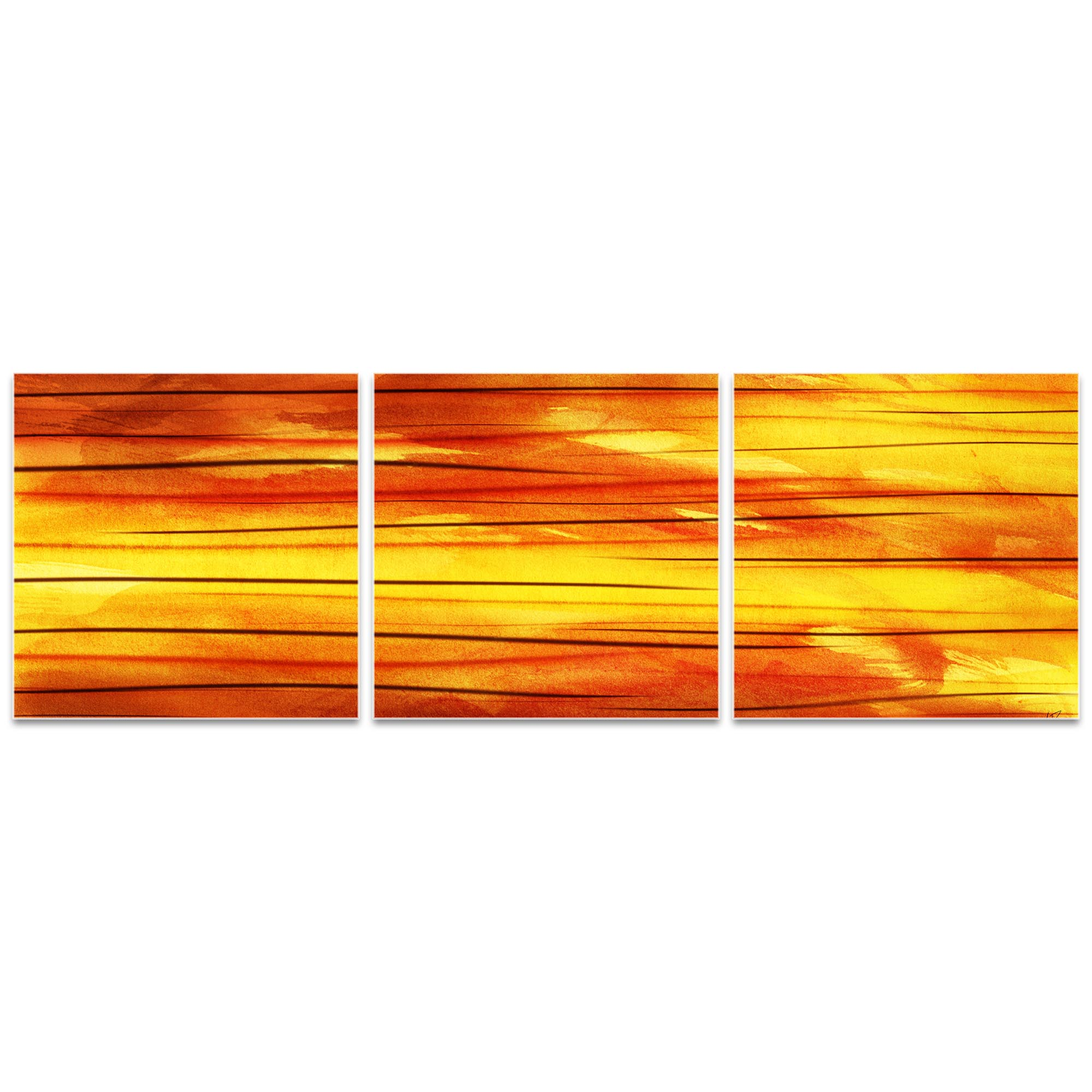 Momentum Triptych Large 70x22in. Metal or Acrylic Abstract Decor - Image 2