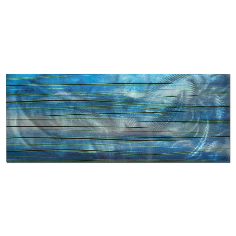 Ocean View - Calming Blue Streak Wall Artwork