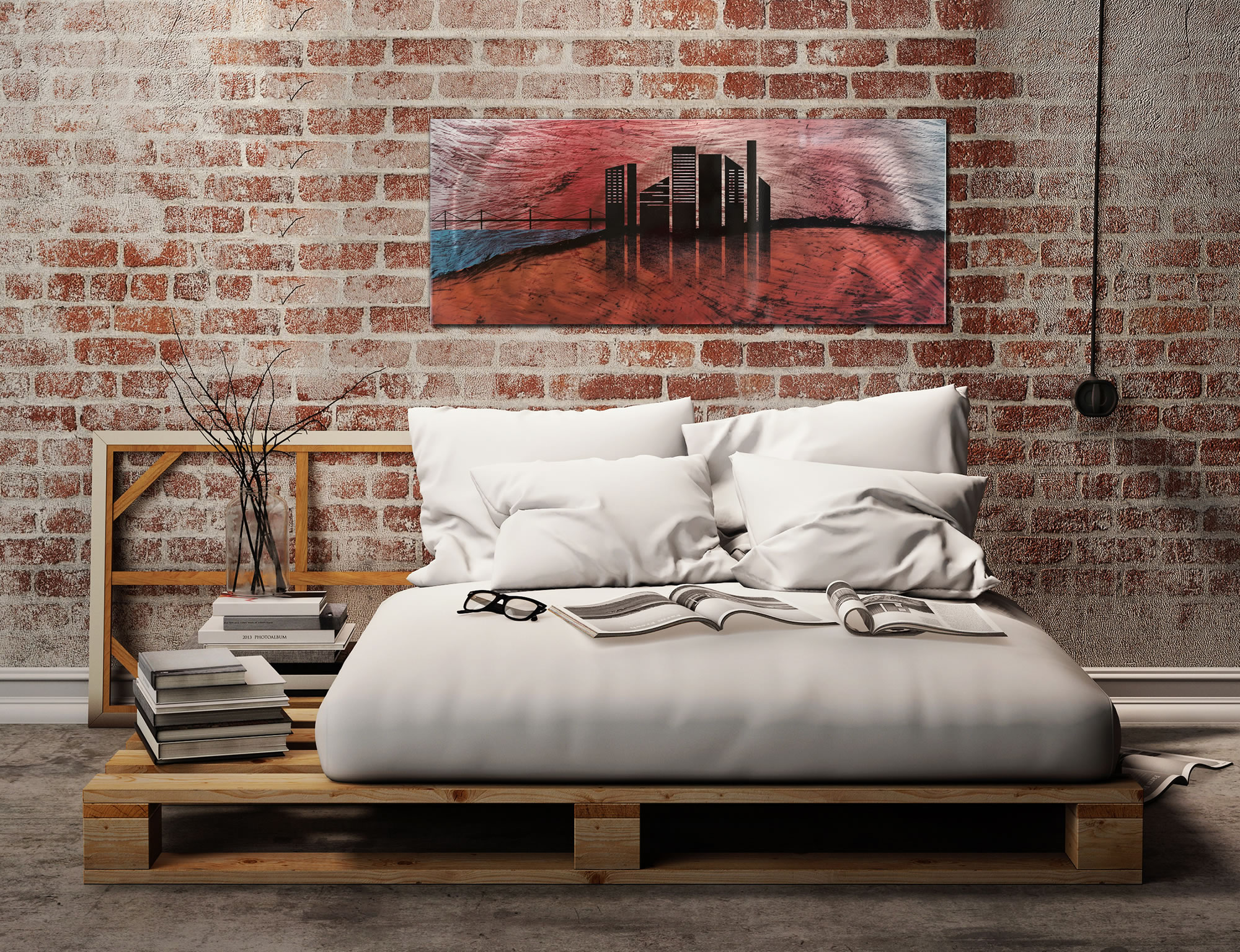 City Silhouette - Sunset Cityscape Abstract Art - Lifestyle Image