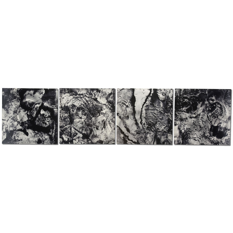 Cyber Space - Black & White Metal Wall Art