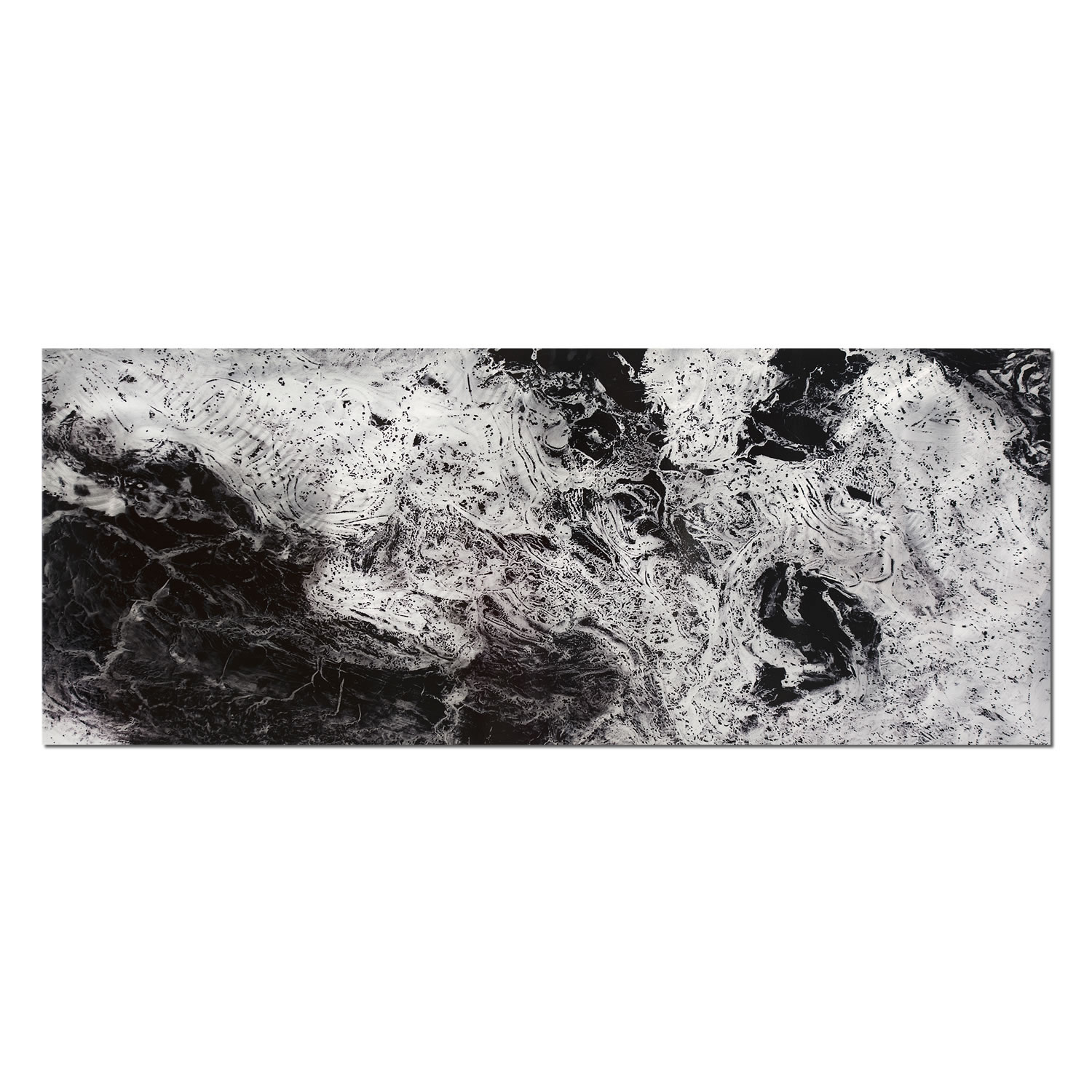 Storm Black & White - Swirling Black Abstract Art