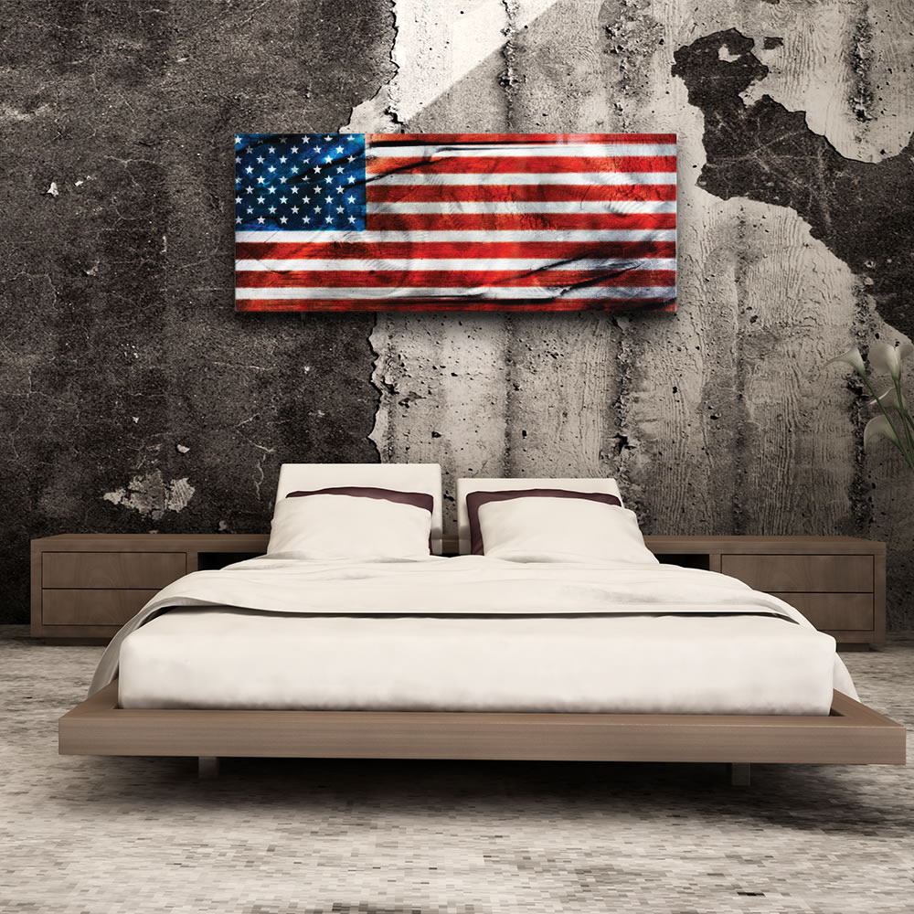 American Glory - Urban American Flag Wall Art - Lifestyle Image
