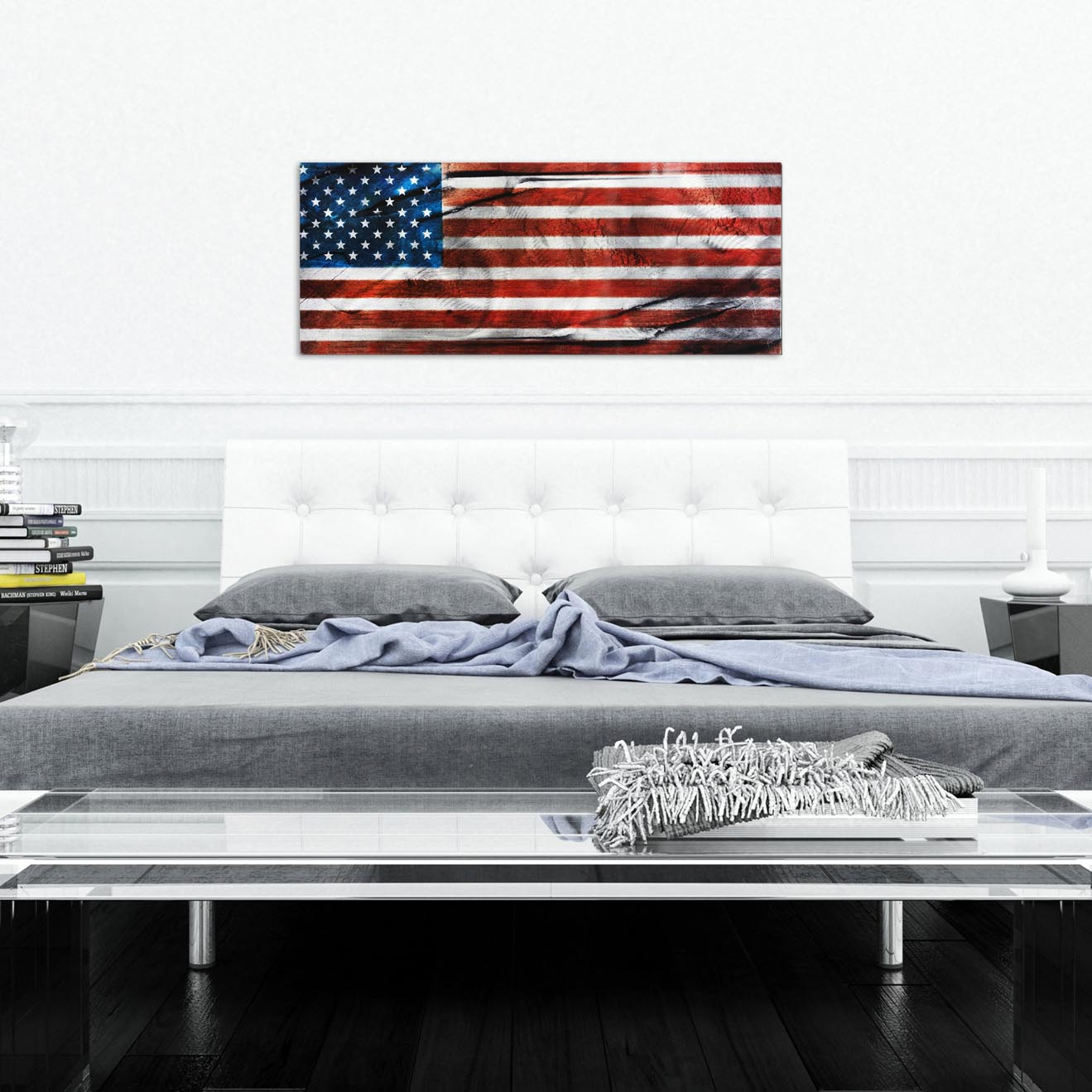 American Glory - Urban American Flag Wall Art - Lifestyle Image