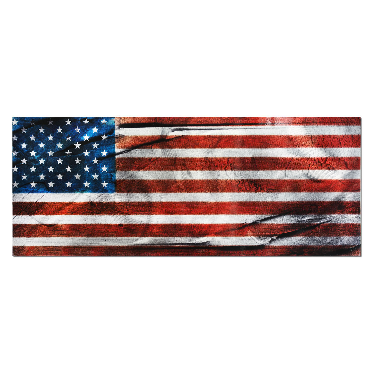 American Glory   Urban American Flag Wall Art