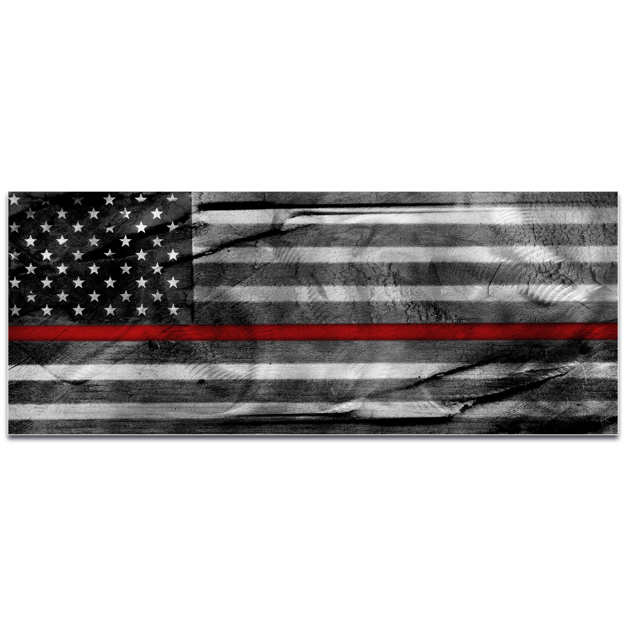 Firemen Flag 'American Glory Firefighter Tribute' - First Responders Art on Metal or Acrylic - Image 2