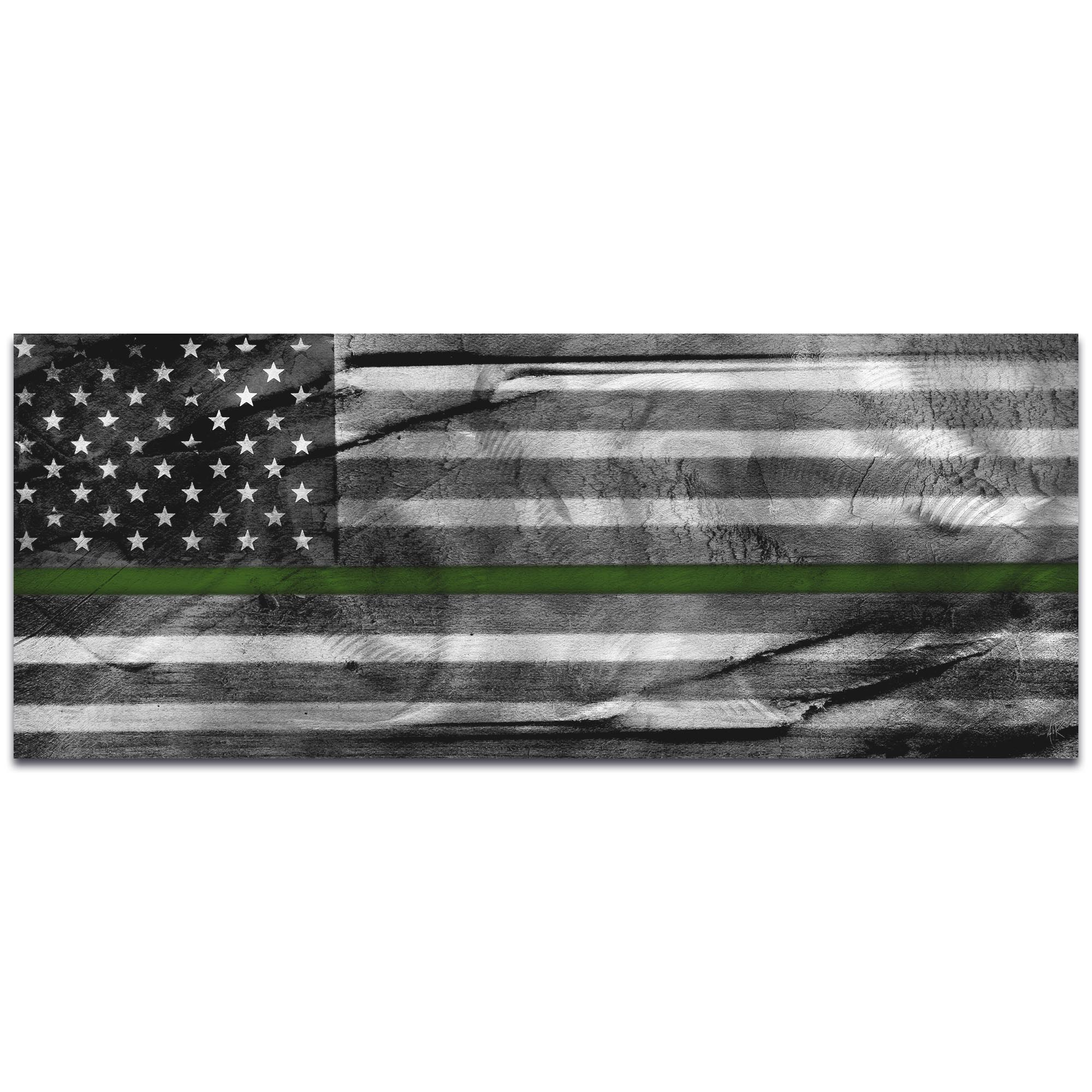 Armed Forces Flag 'American Glory Military Tribute' - US Military Art on Metal or Acrylic