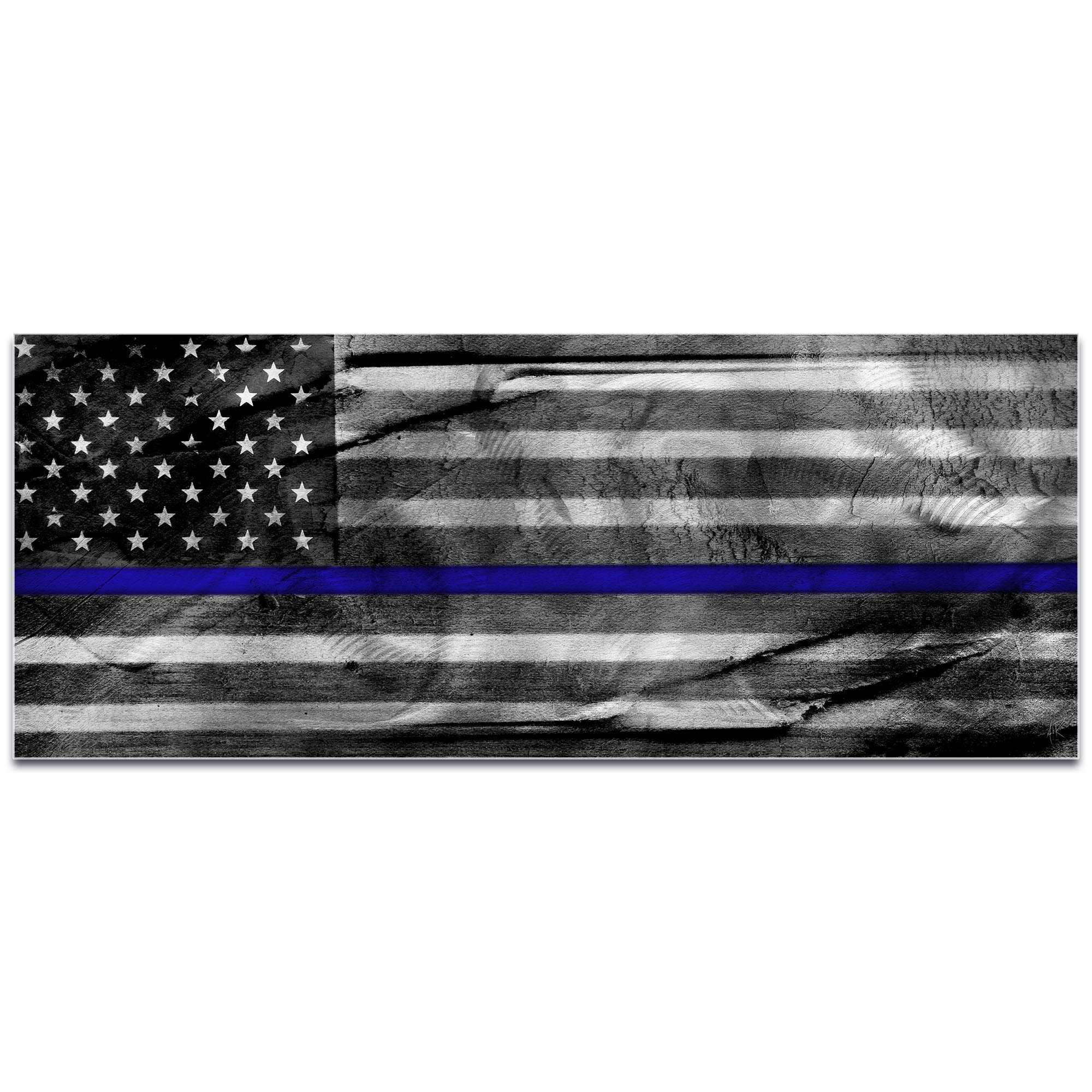 Police Officer Flag 'American Glory Police Tribute' - Policemen Art on Metal or Acrylic - Image 2